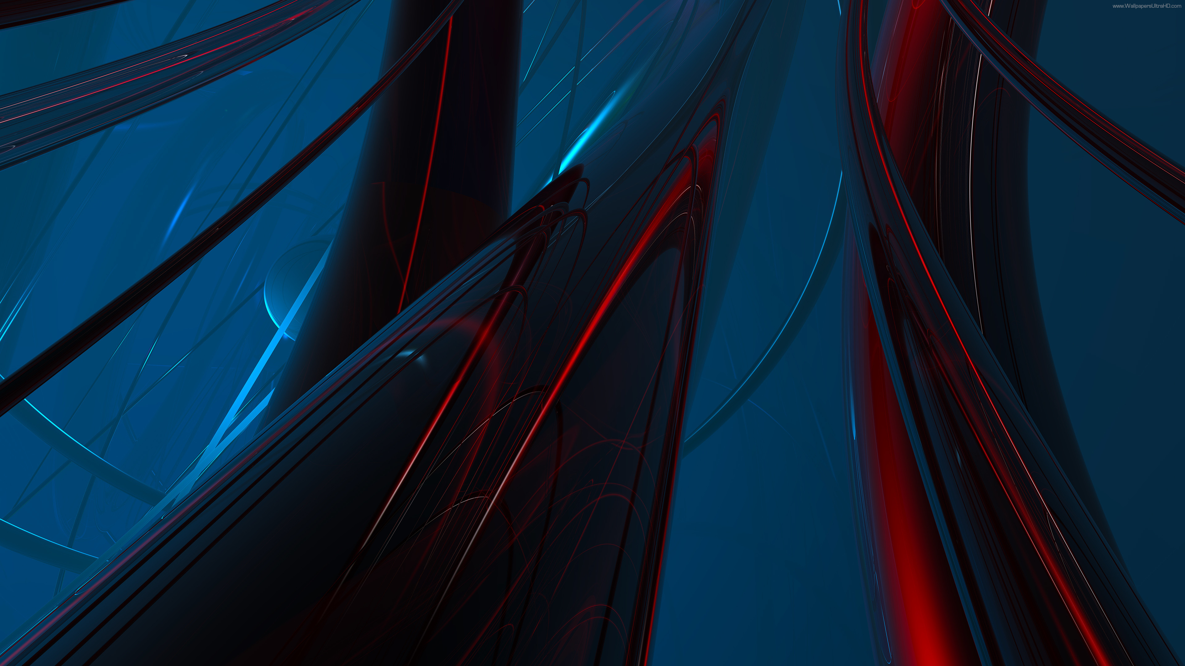 UHD wallpapers 4K Abstract red + blue, Abstract green + purple .