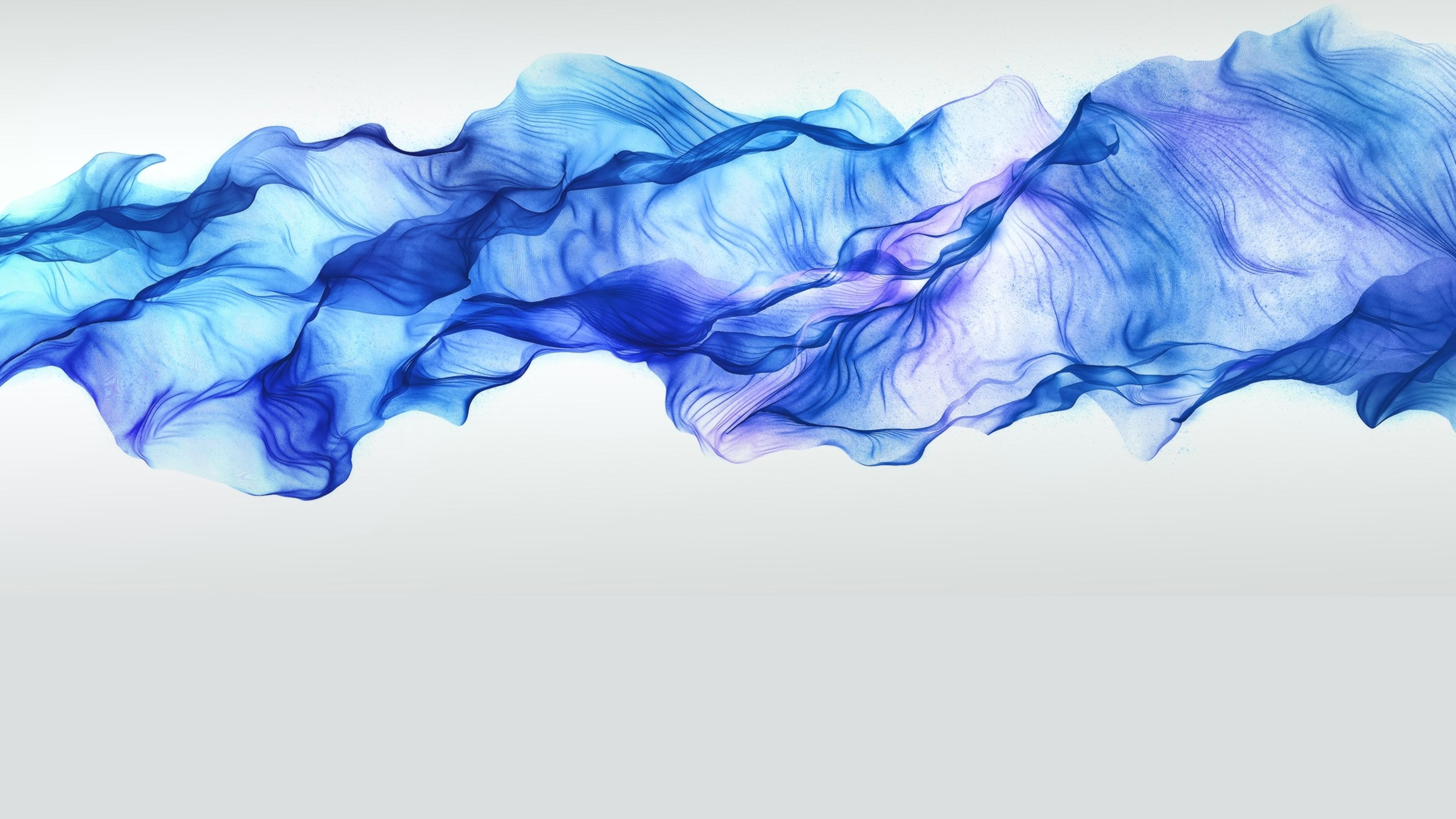 Wallpaper abstract, black, blue, smoke