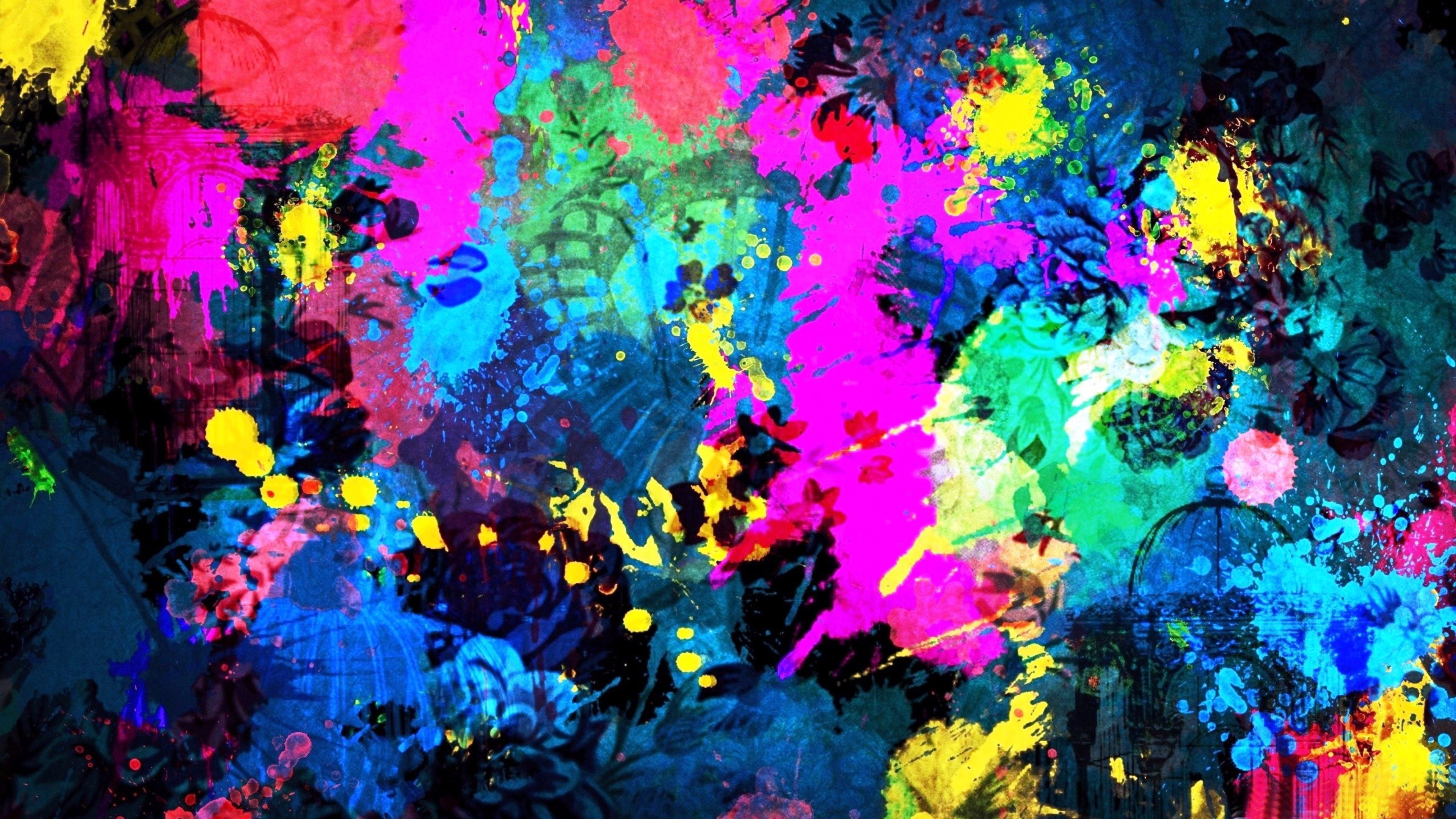 4K wallpaper abstract color art