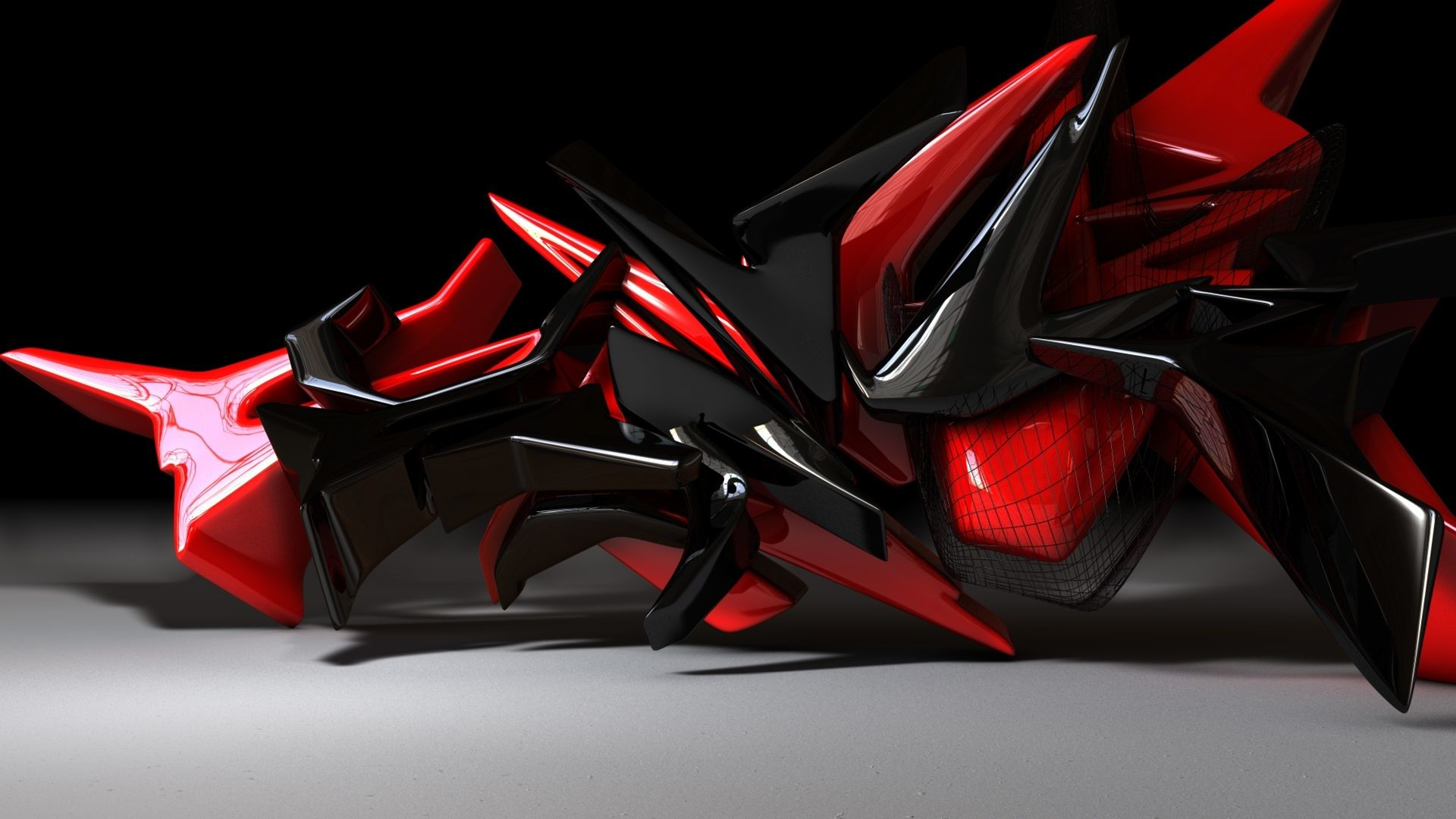 <b>Red Black Abstract Wallpaper</b>