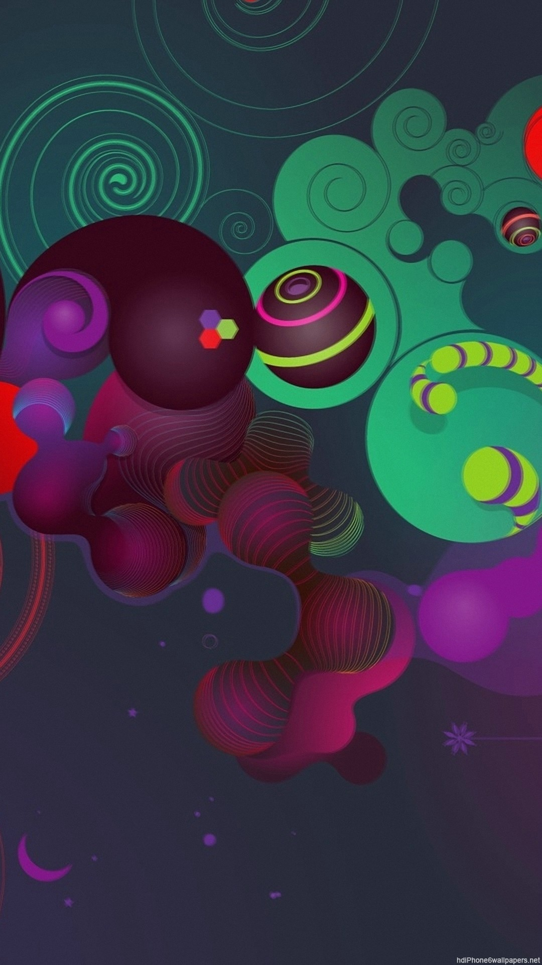 HD circle colour 3d abstract iphone 6 wallpaper