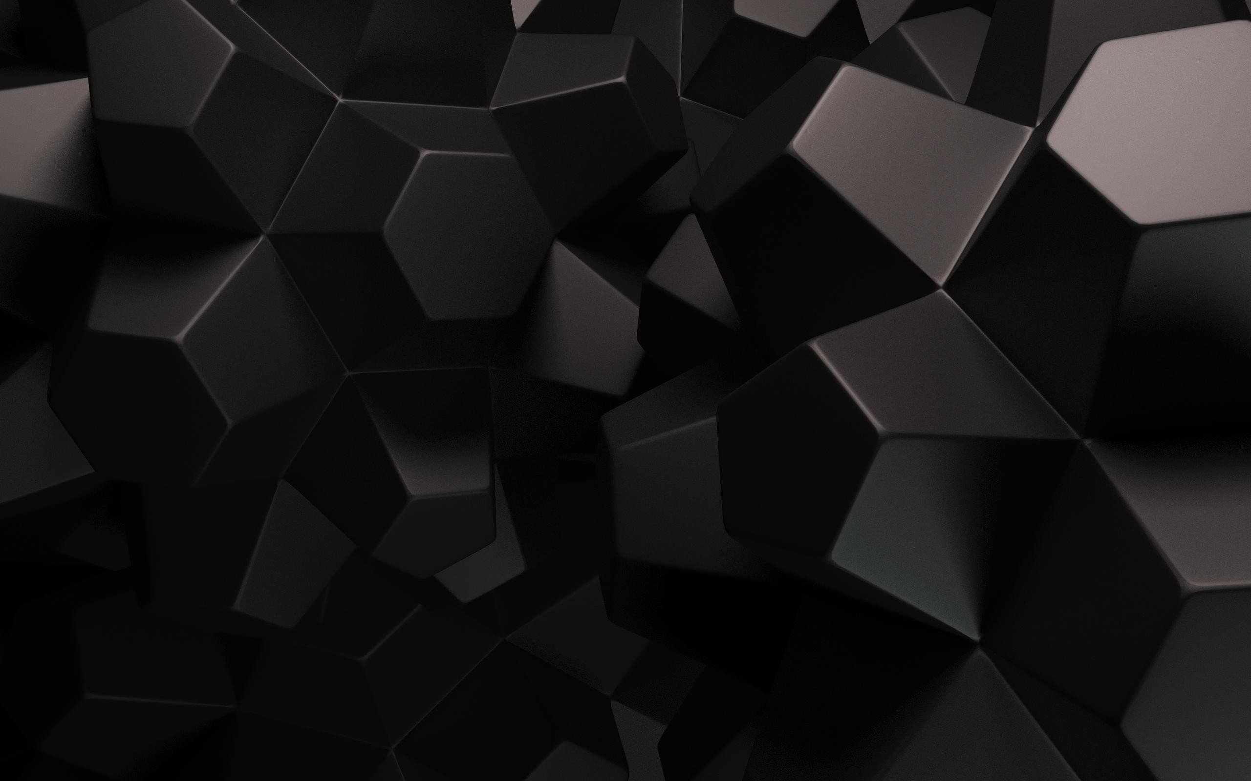 Dark Color 3D Chocolate Pieces Abstract