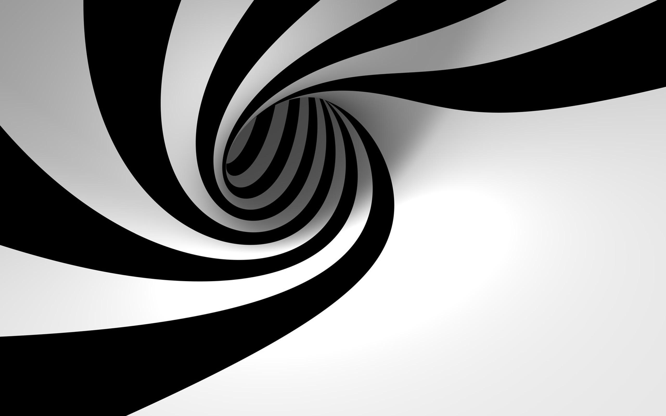 HYpnotizing Spiral Black And White Wallpaper