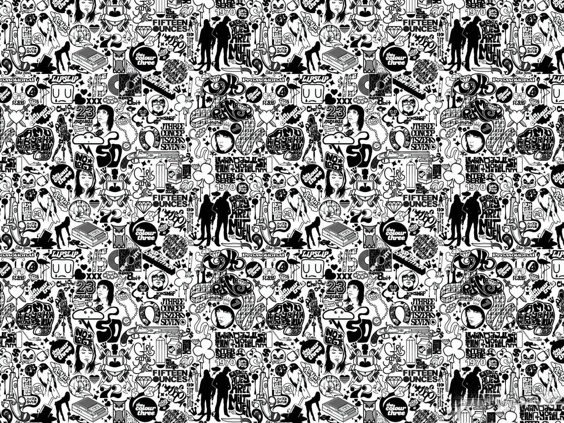 Comics Black And White Abstract.