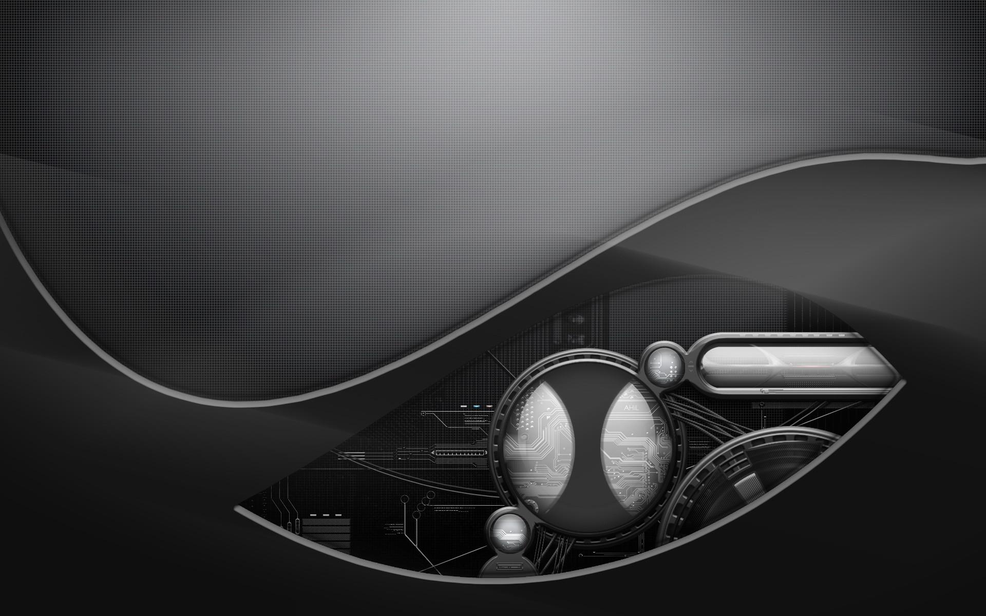 Theme Bin» Blog Archive » Future Black Abstract HD Wallpaper