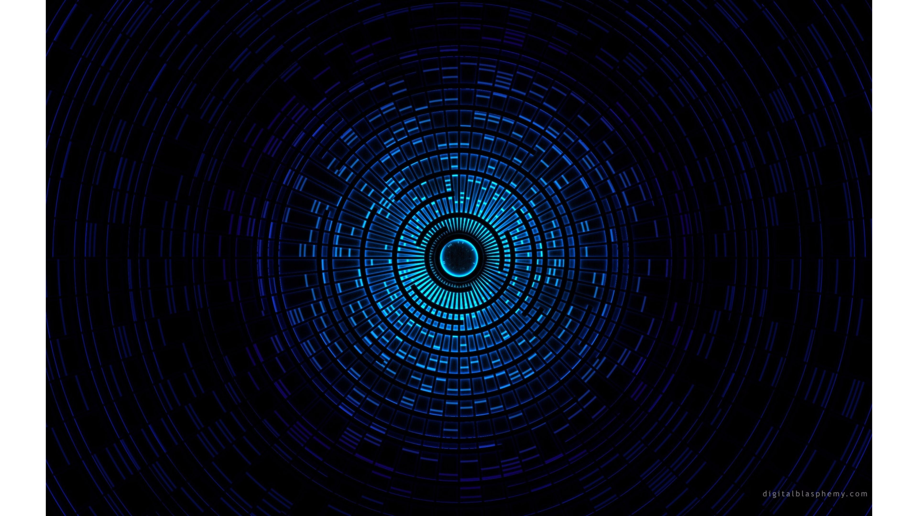 Abstract blue object – HD wallpaper
