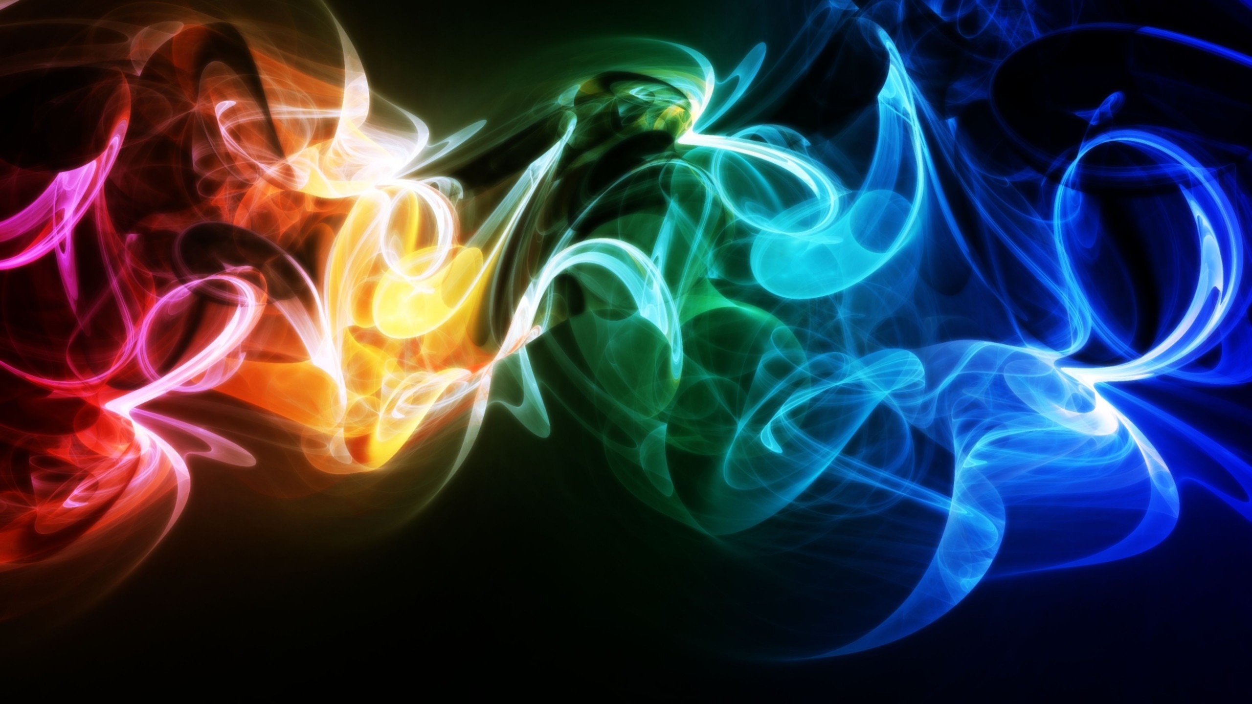 Abstract colorful fire Wallpaper
