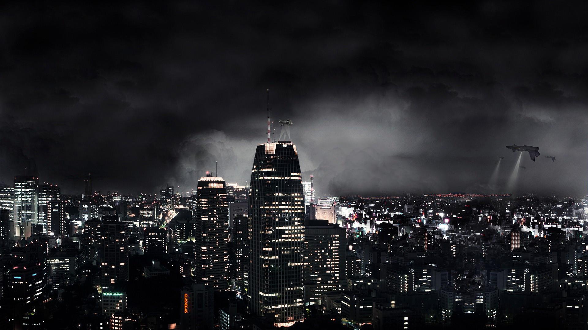 Dark Abstract City
