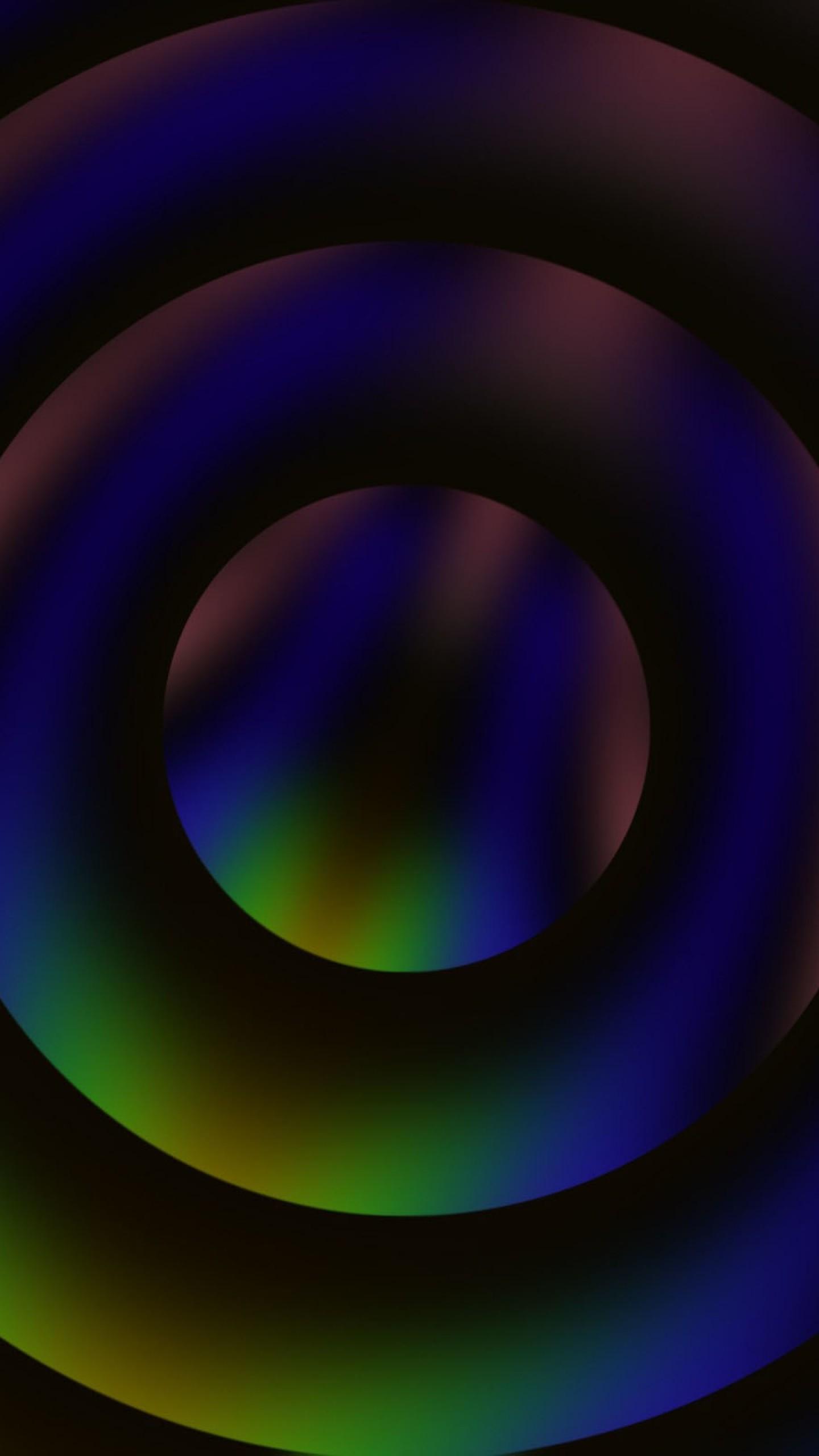 Wallpaper circles, abstract, dark, overflow