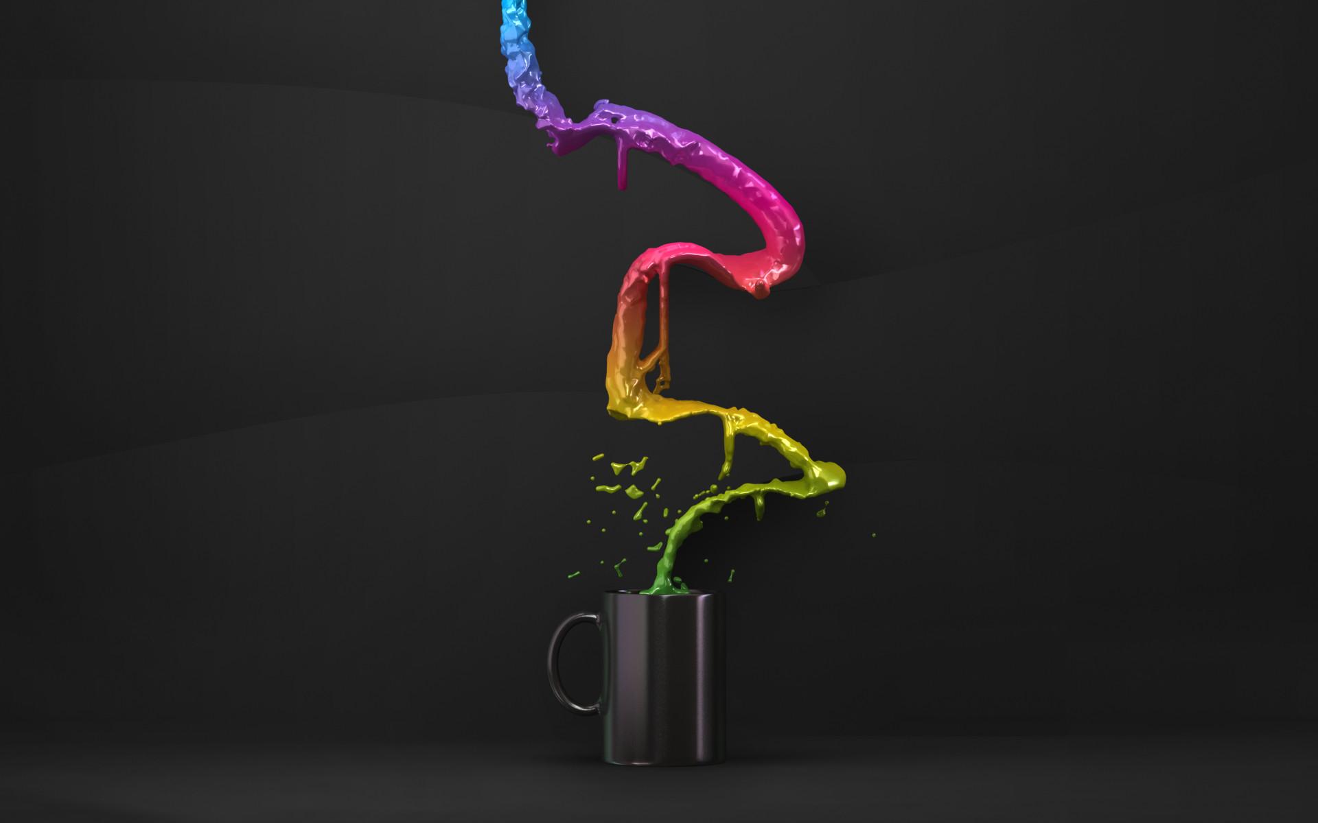 Flow Colour Hd Abstract Desktop Wallpaper