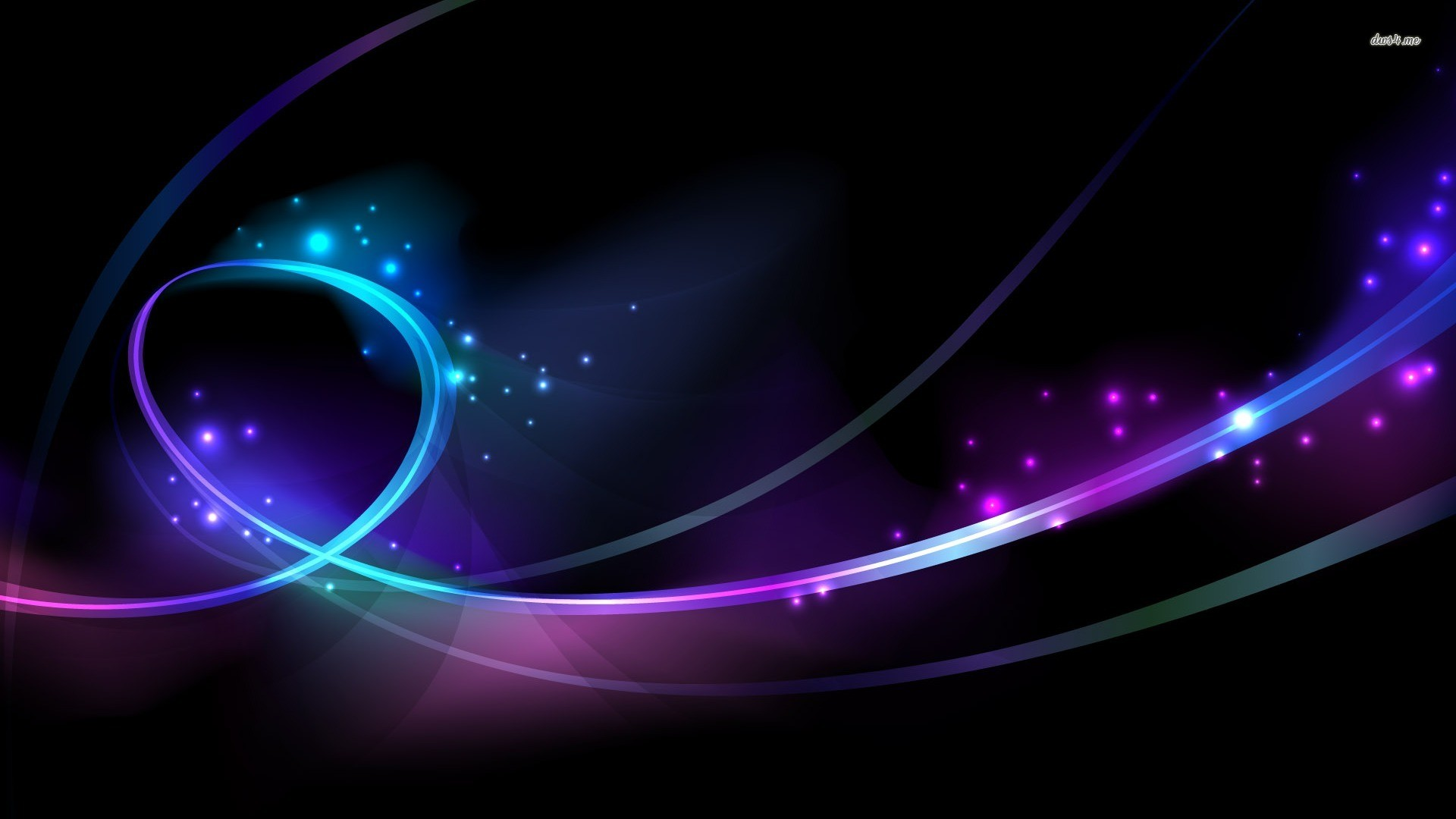 Glowing Circles and Curves wallpaper .