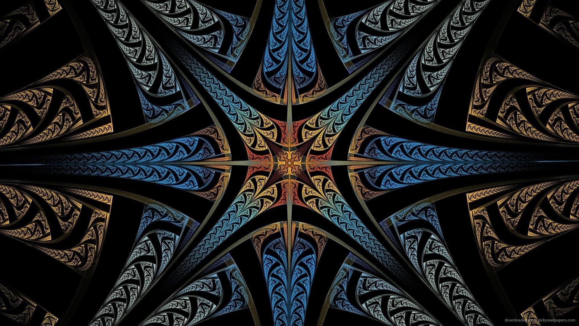 Abstract Starburst Fractal Wallpaper for 1920×1080