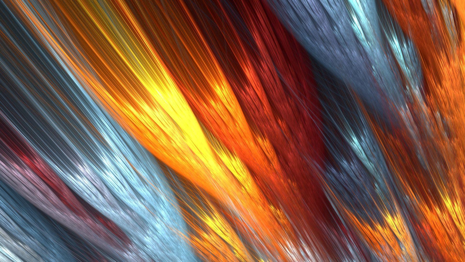 Abstract Fire Fractals HD Wallpaper. « »