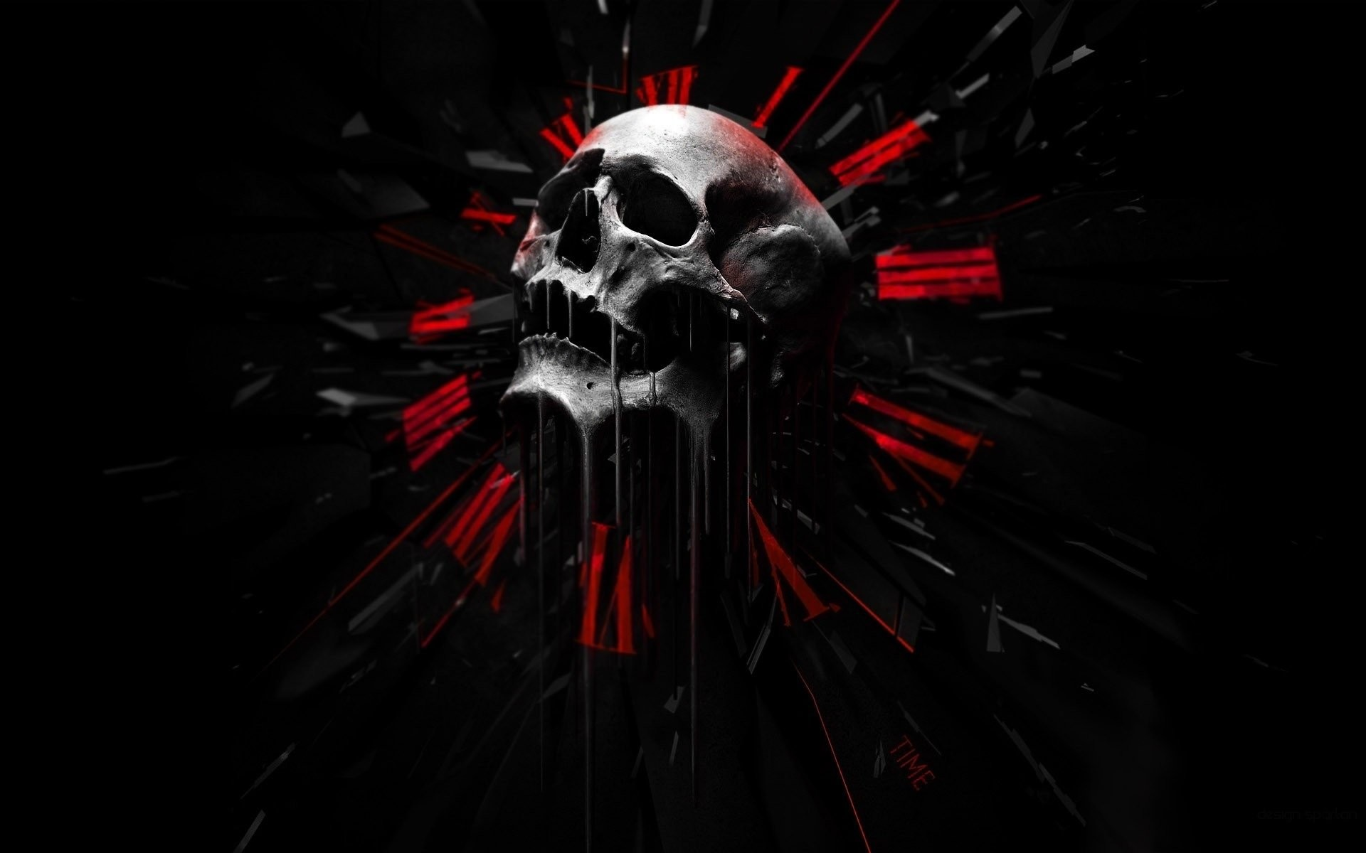 Skulls – Dark Abstract Black Red Wallpaper At Dark Wallpapers