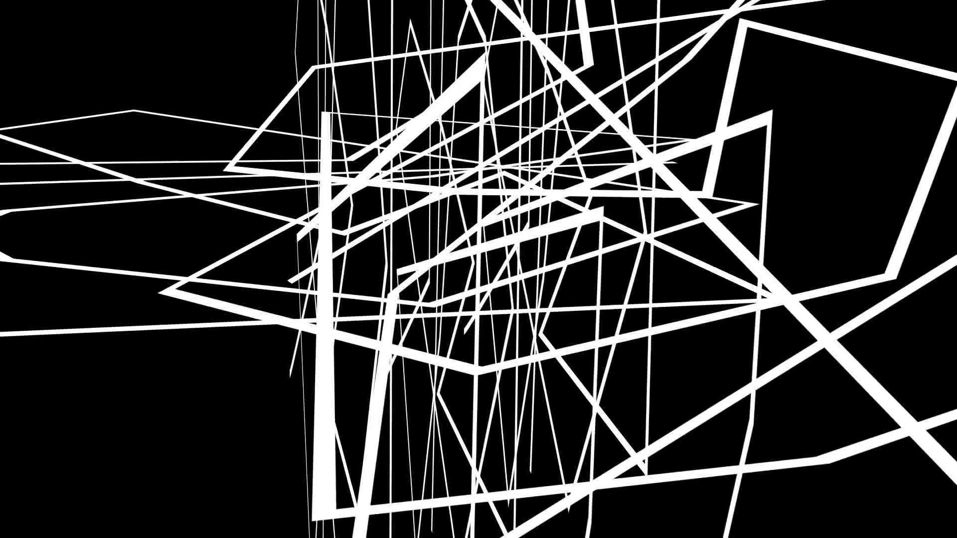 Subscription Library animation – Abstract motion graphics on black  background with criss cross white lines