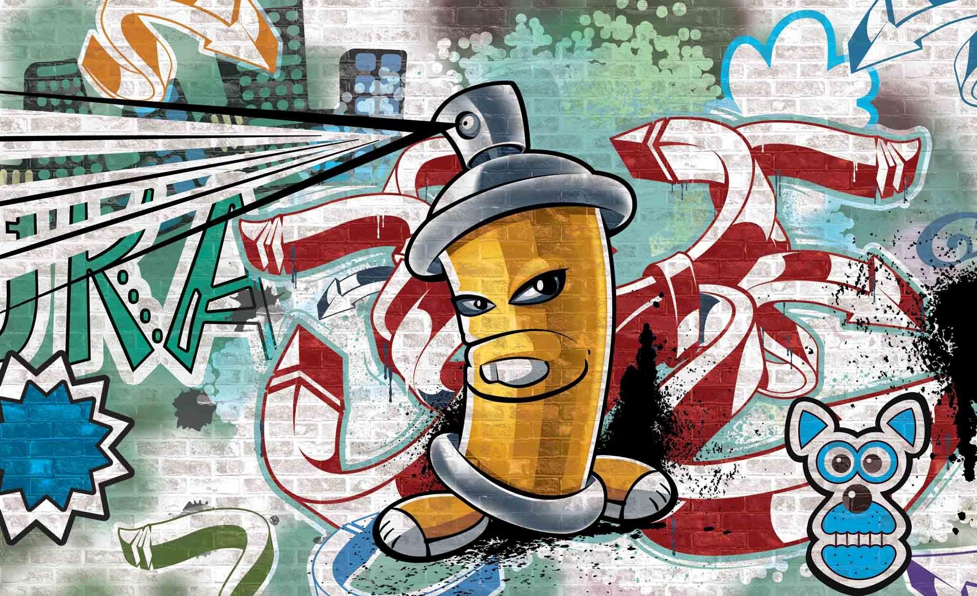Graffiti Boys Urban Art Photo Wallpaper Mural (CN-1397PP)
