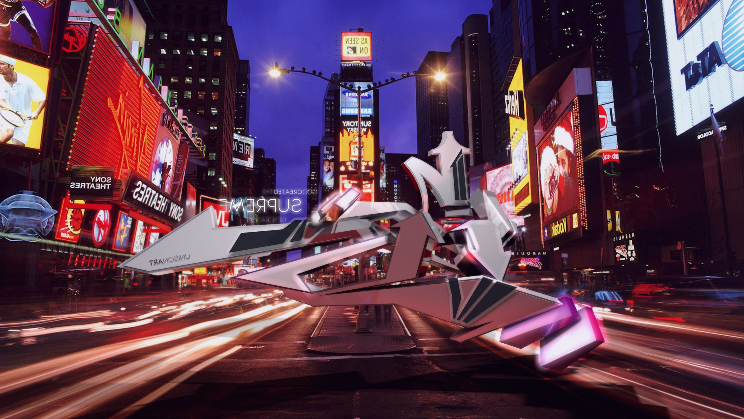 abstract, Graffiti, New York City, Times Square