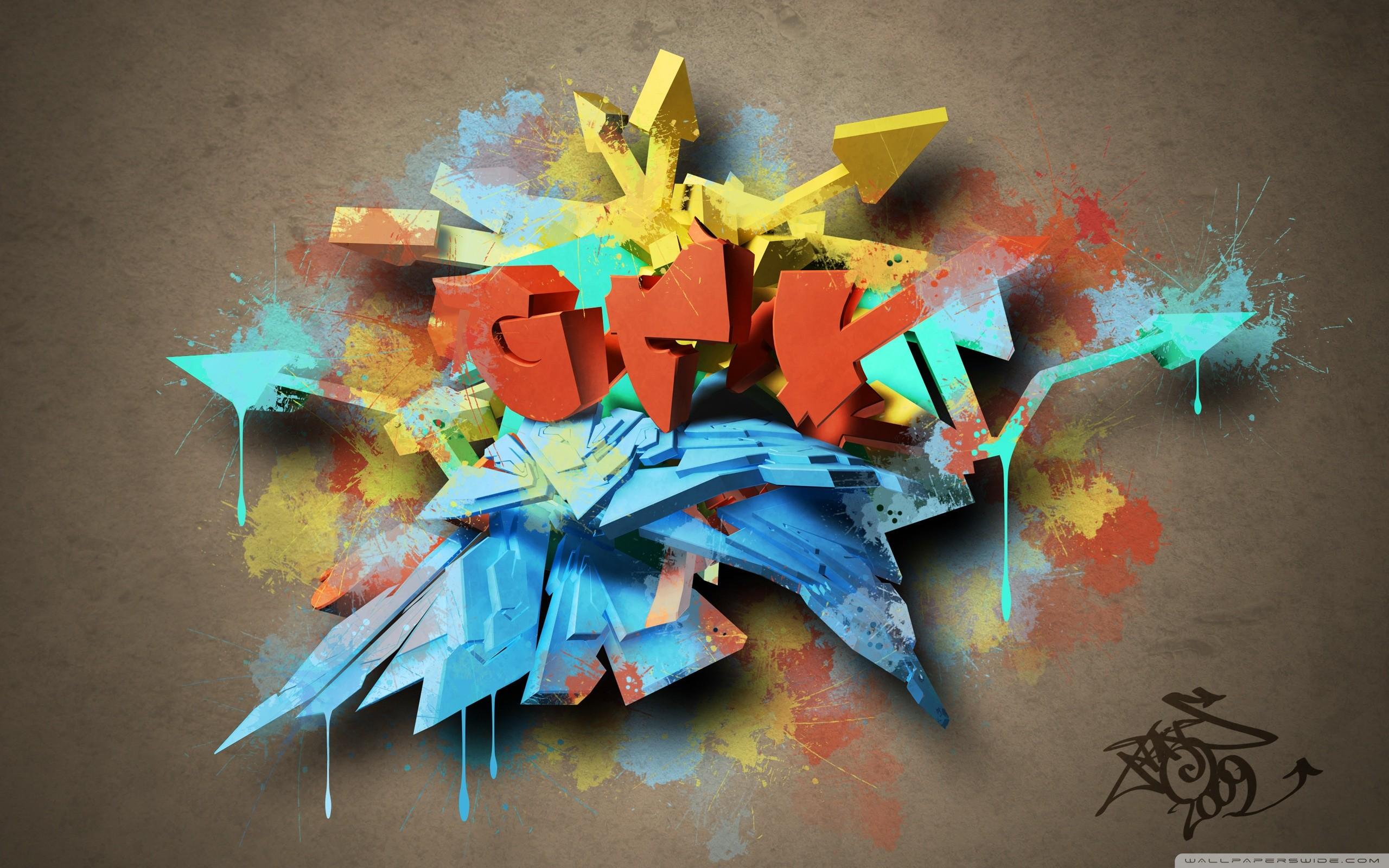 … 3d colorful graffiti hd desktop wallpaper fullscreen …
