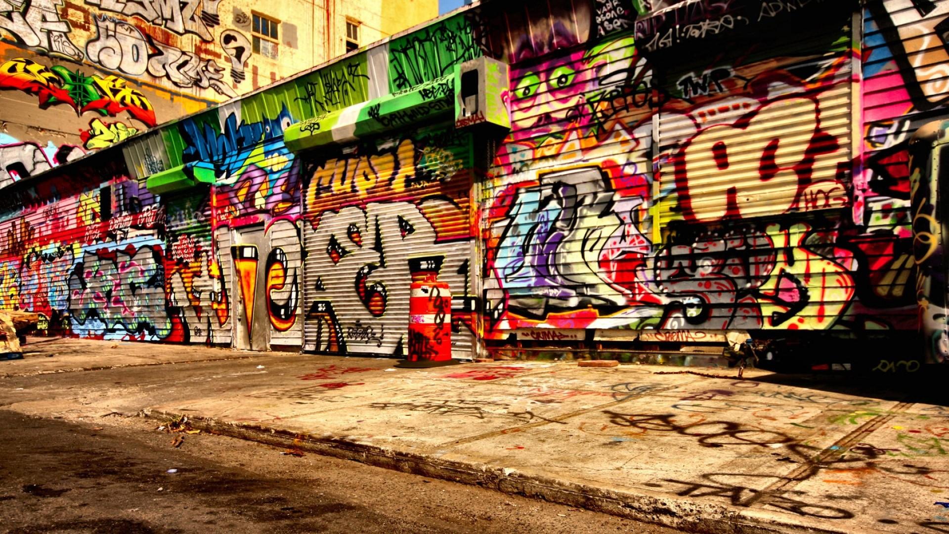 Preview wallpaper graffiti, asphalt, wall 1920×1080