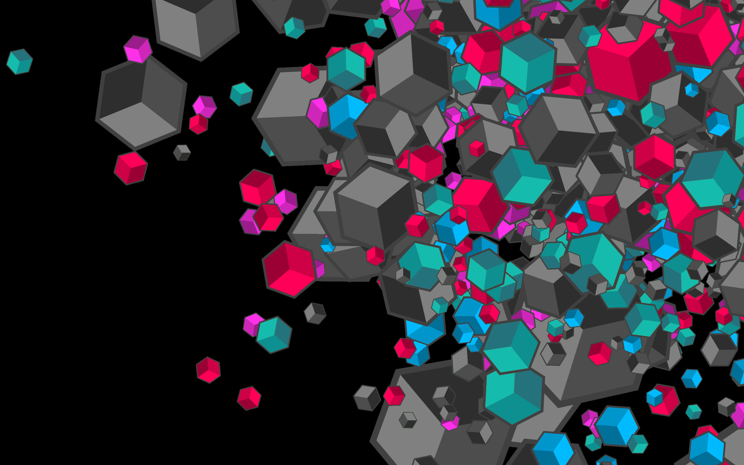 Top 2016 Wallpapers Pack: p.61 Widescreen Images of Cubes .