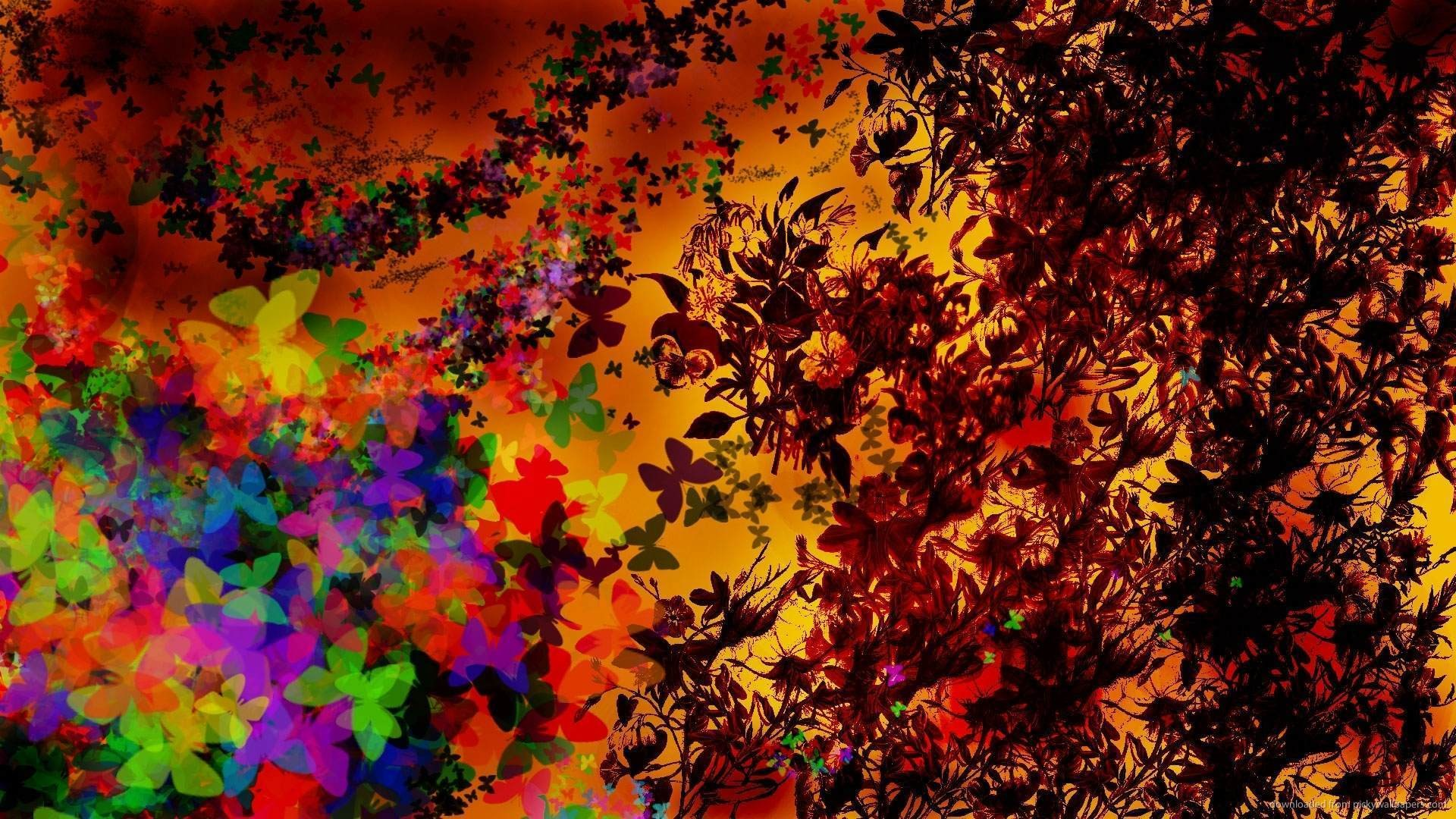 1366×768 Abstract Butterfly Design wallpaper