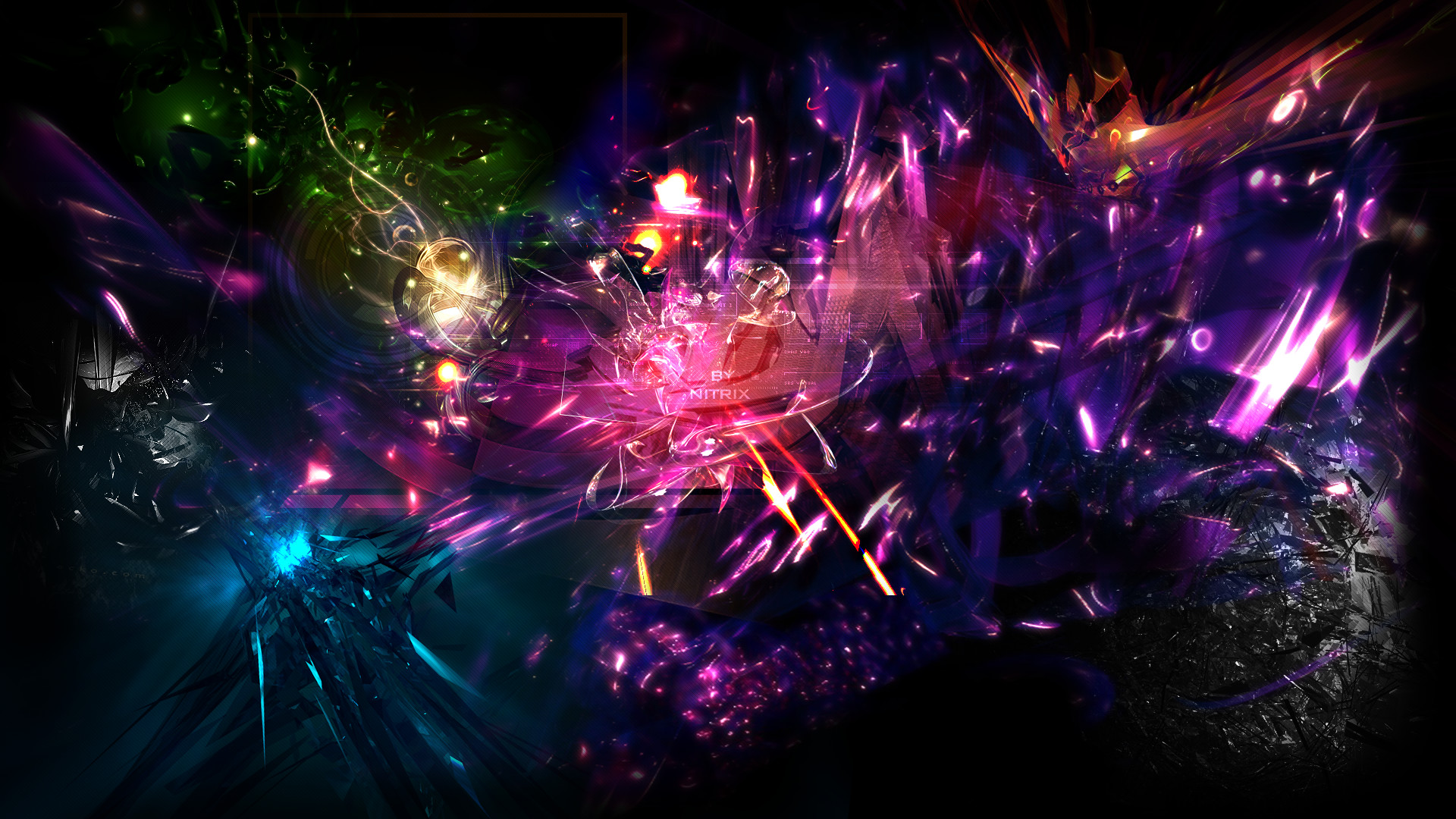 … Space Abstract Wallpaper (Color Version) by nitr1x
