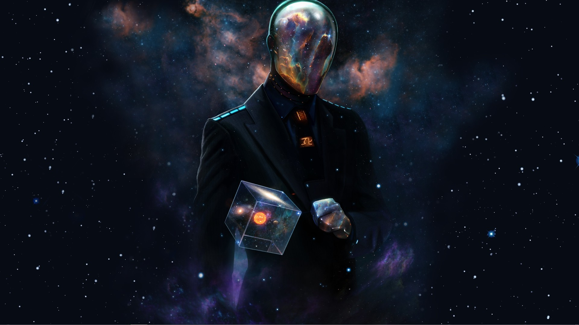 Abstract outer space dan luvisi cube wallpaper