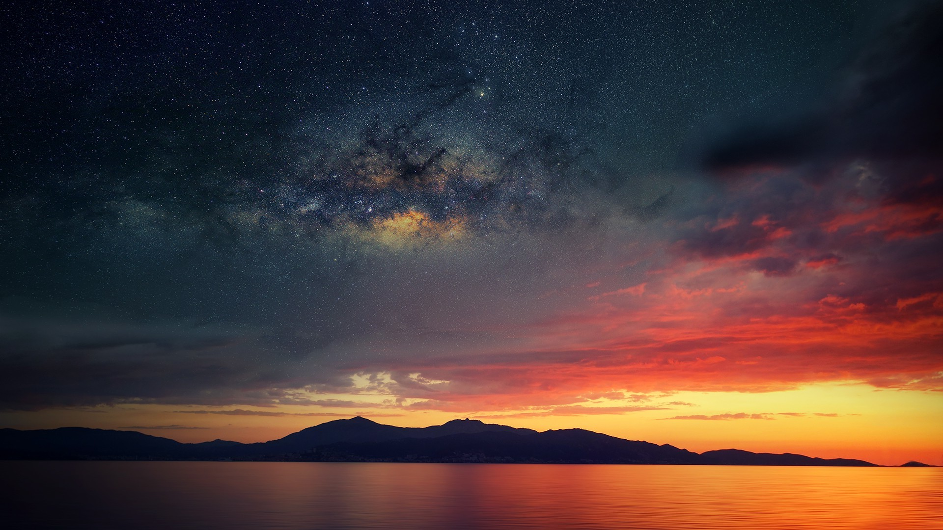 Corsica, Abstract, Space, Water, Sea, Sunset Wallpapers HD / Desktop and  Mobile Backgrounds