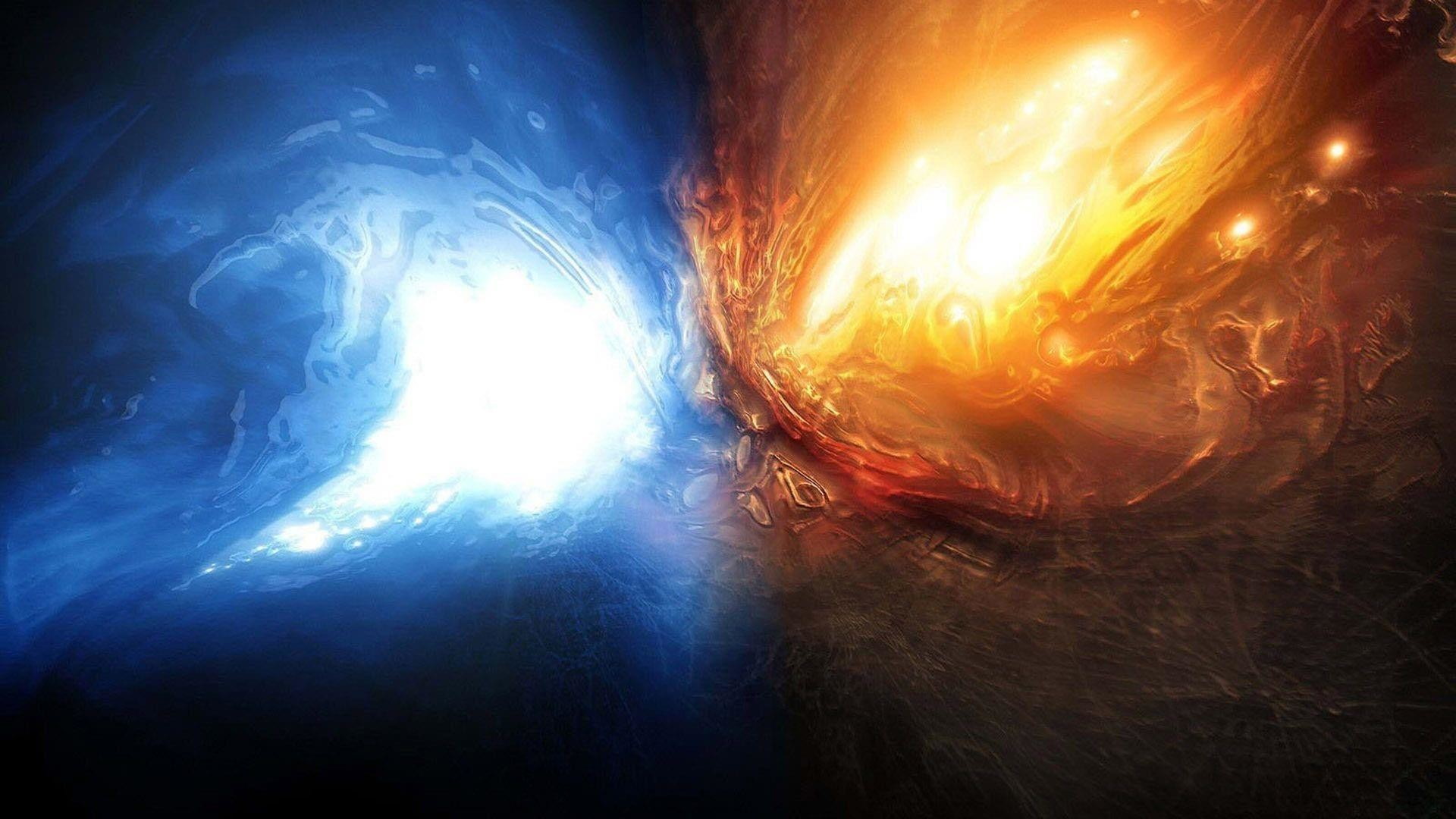 Cool abstract space art wallpaper