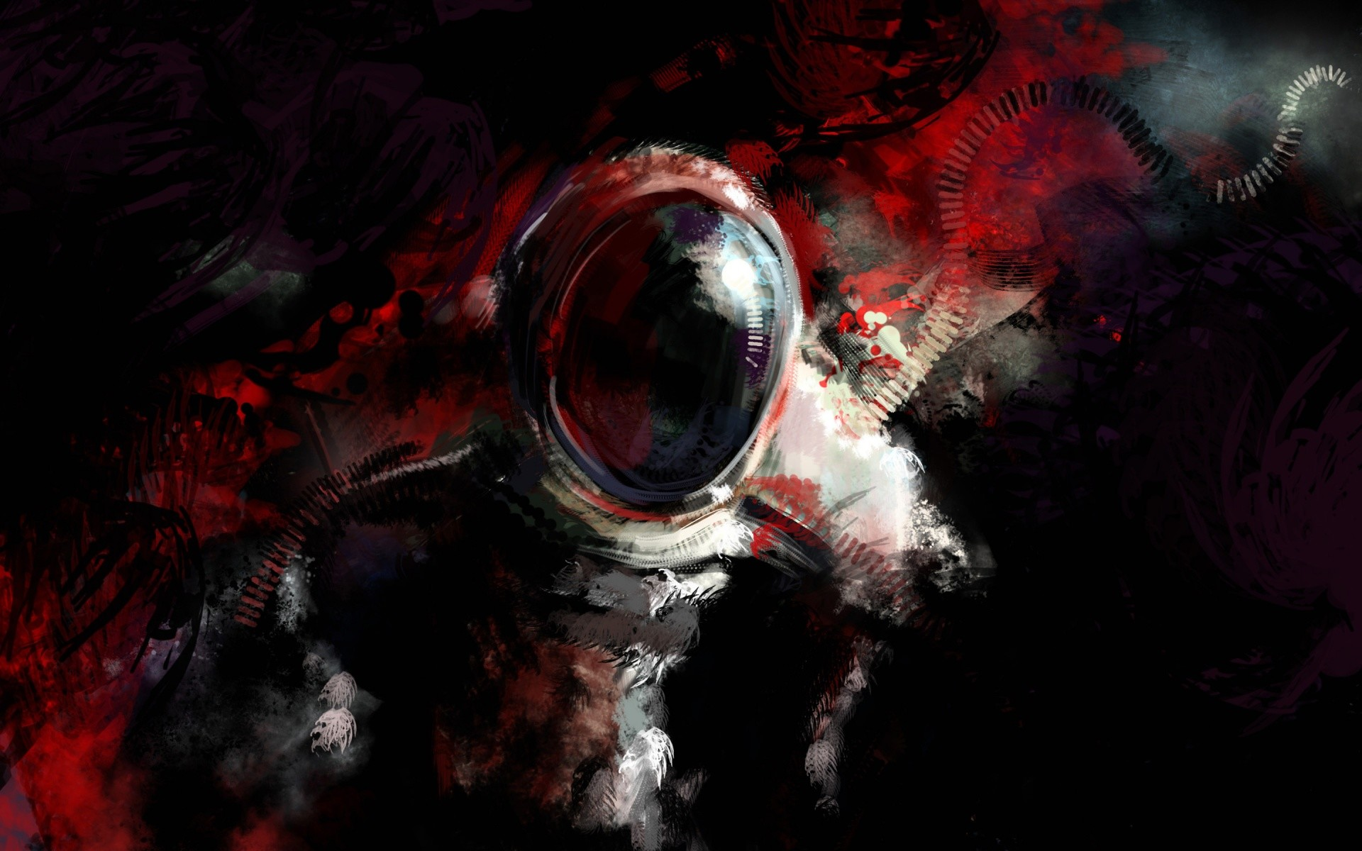 Astronaut in Space Abstract wallpaper | Best HD Wallpapers
