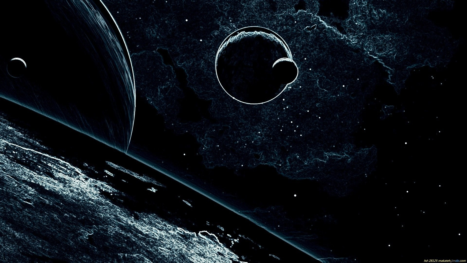 Sci Fi – Abstract Planet Moon Sci Fi Space Wallpaper
