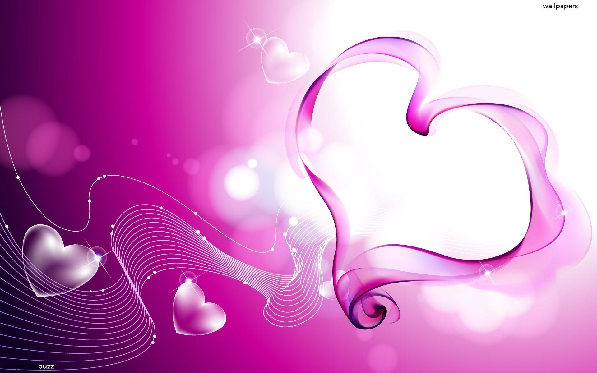 Wallpapers Backgrounds – heart pink abstract background fantasy valantines  wallpaper
