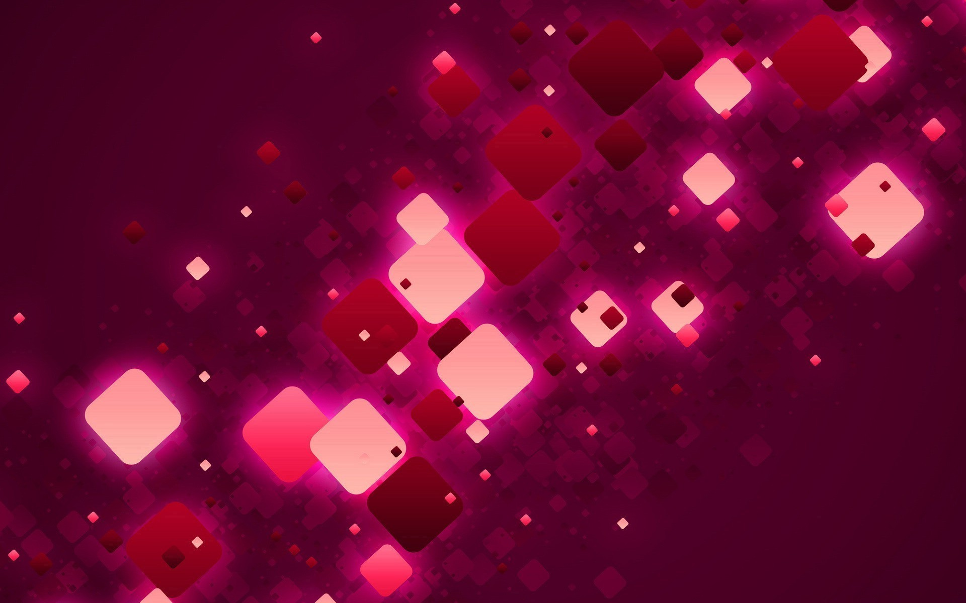 Red and pink squares abstract hd wallpaper.