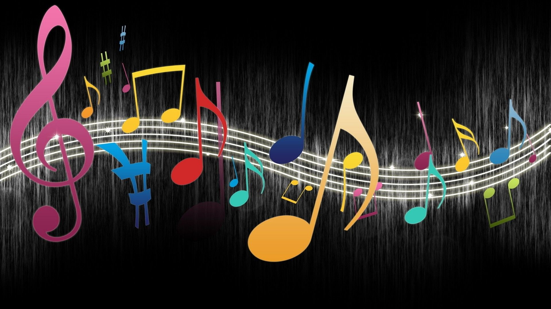 Colorful Music Notes Wallpaper Clipart Panda Free Clipart Images