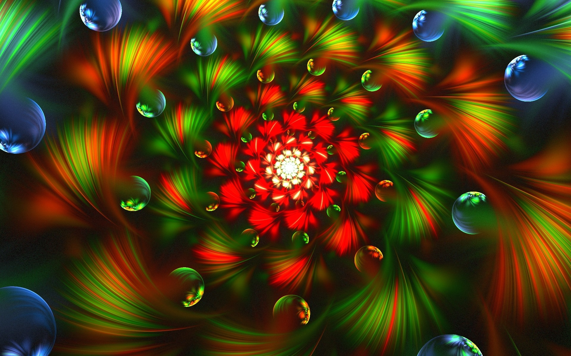 3d abstract fractal colorful bright wallpaper
