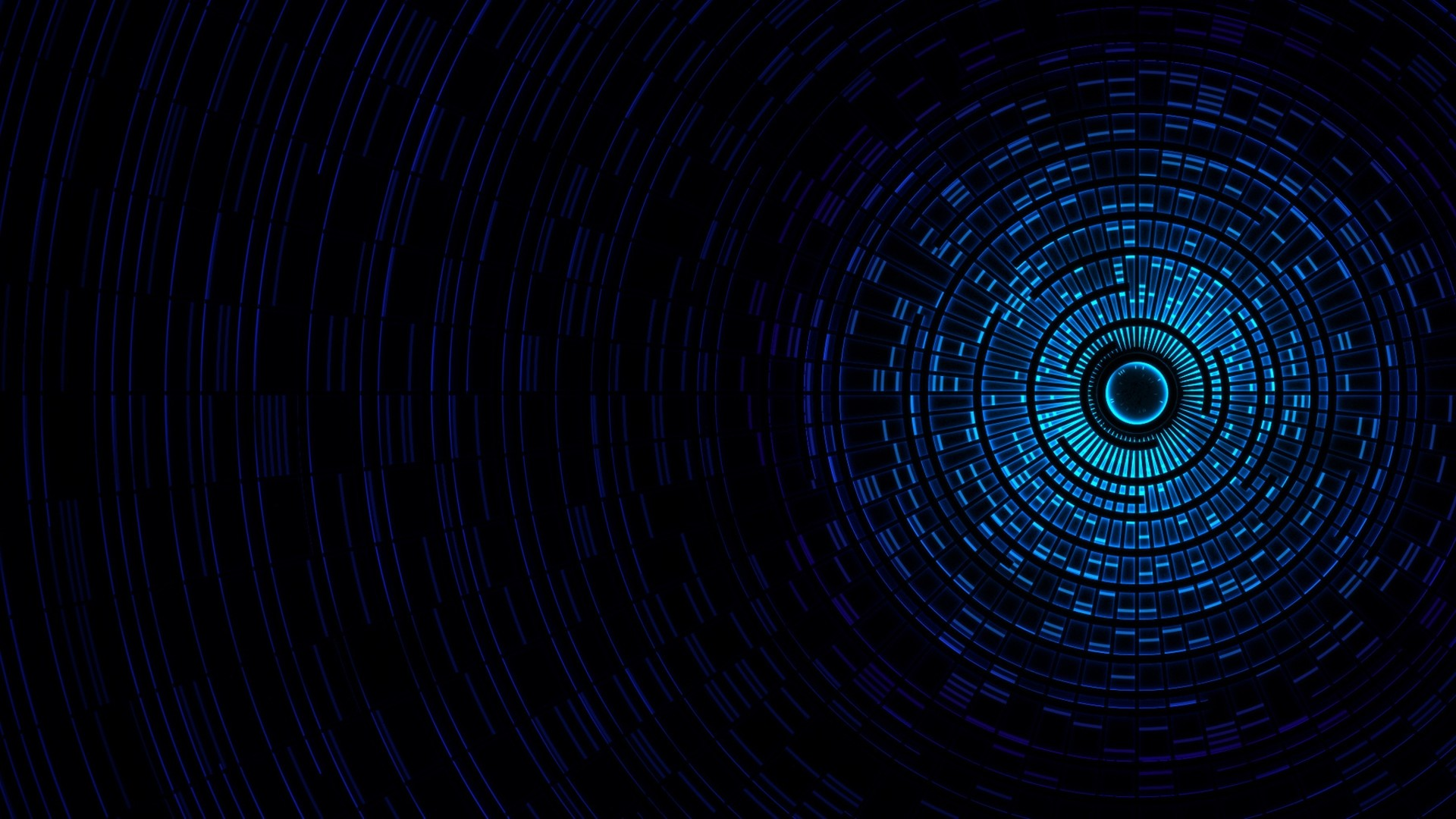 Preview wallpaper abstraction, passage, light, black, blue 1920×1080