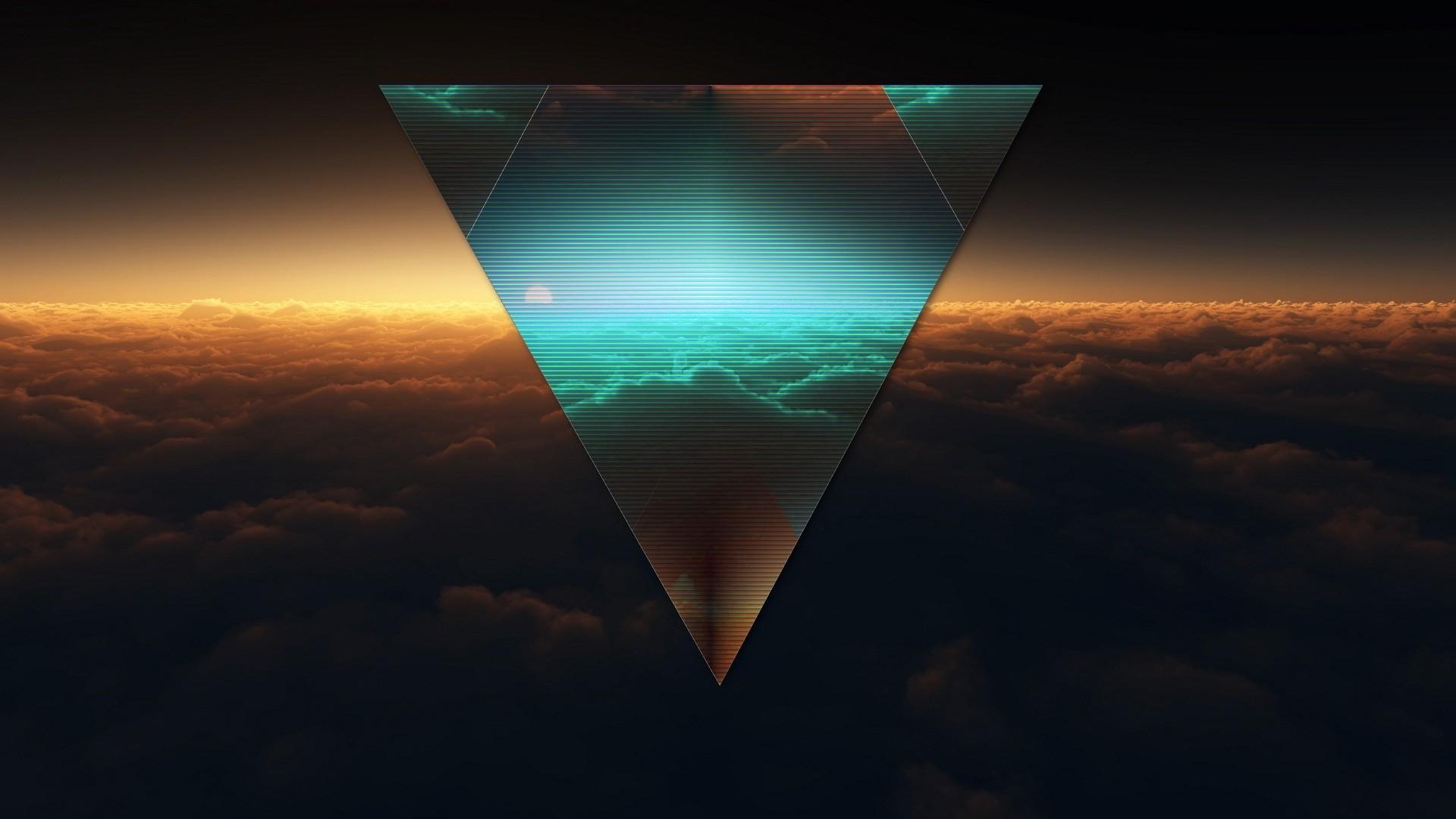 Preview wallpaper triangle, shape, dark, figure 1920×1080