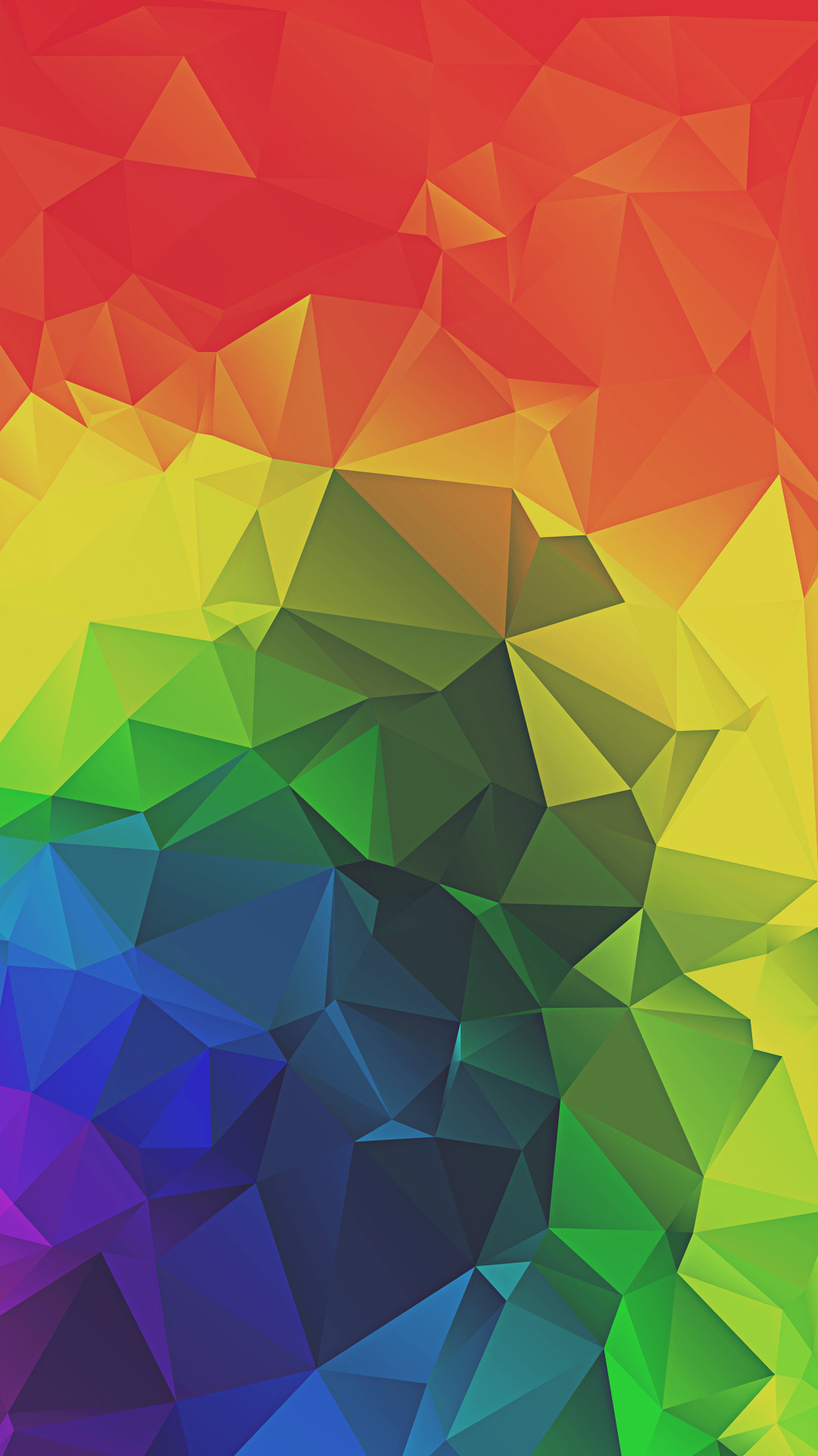 Rainbow Triangles Abstract iPhone 6+ HD Wallpaper
