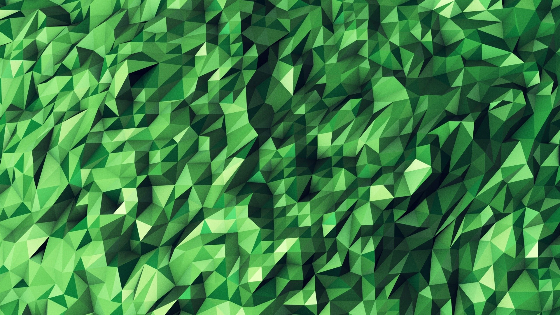 Green Abstract Geometric Shapes desktop PC and .