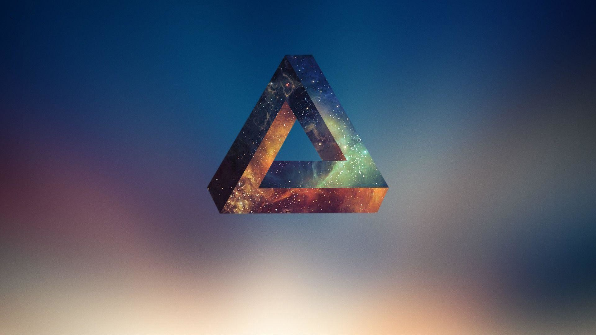 Penrose Triangle, Abstract, Geometry Wallpapers HD / Desktop and .