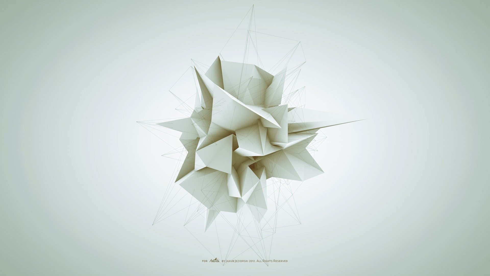 Abstract white geometry forms Adam Spizak wallpaper | | 238659 |  WallpaperUP