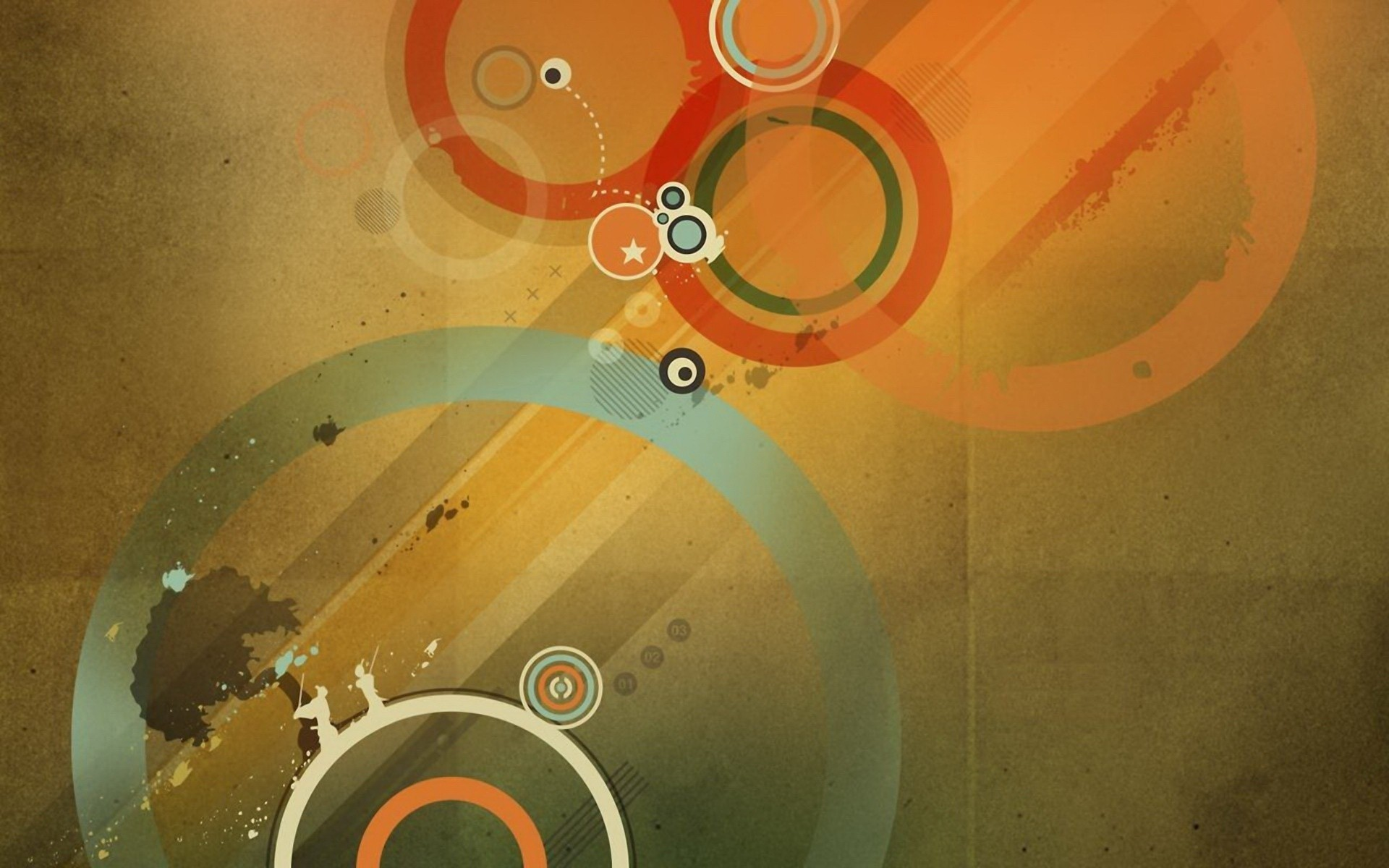 colorfull Circles Shapes Lines abstract hd wallpapers