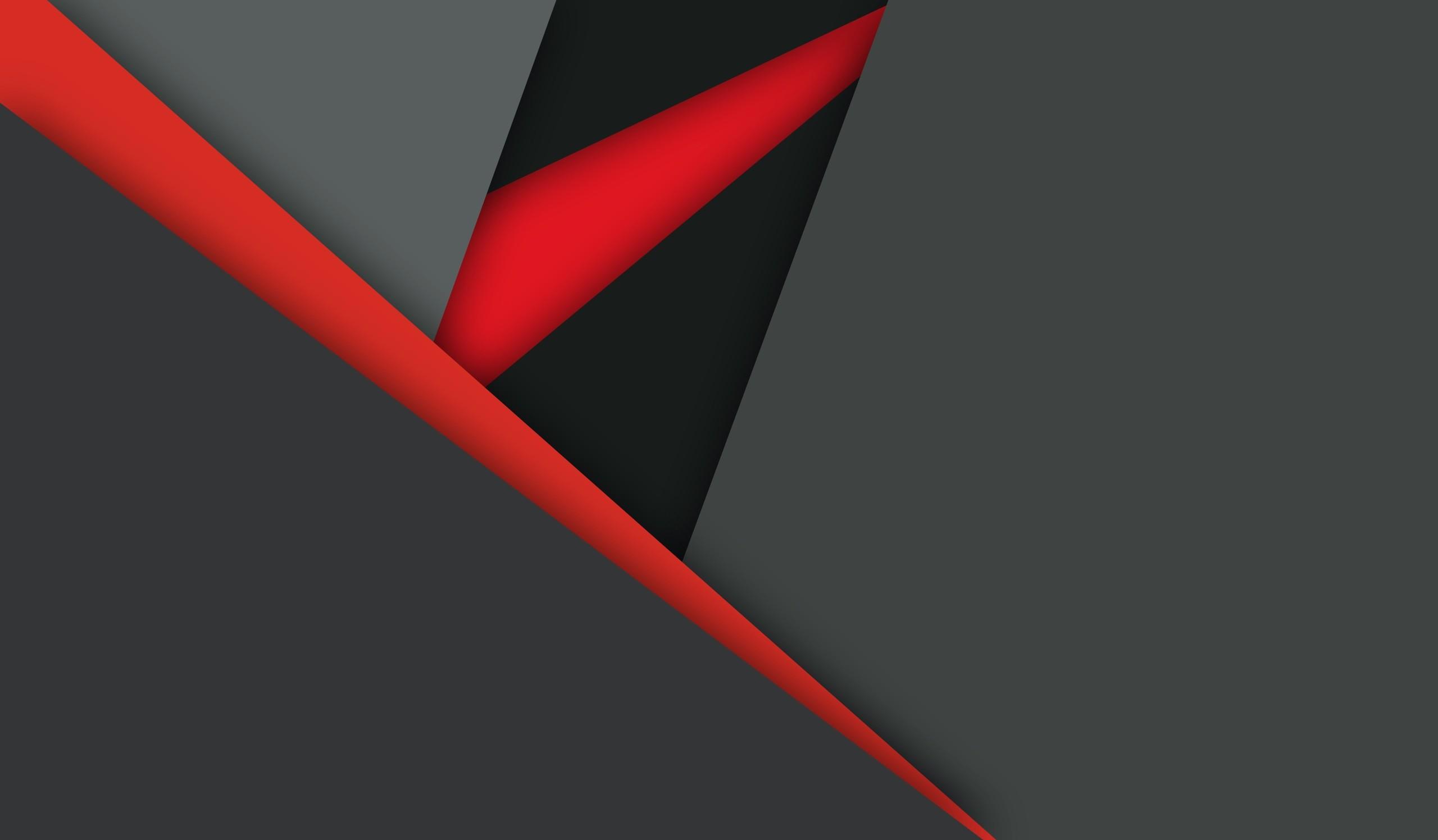 Material Design Dark Red Black