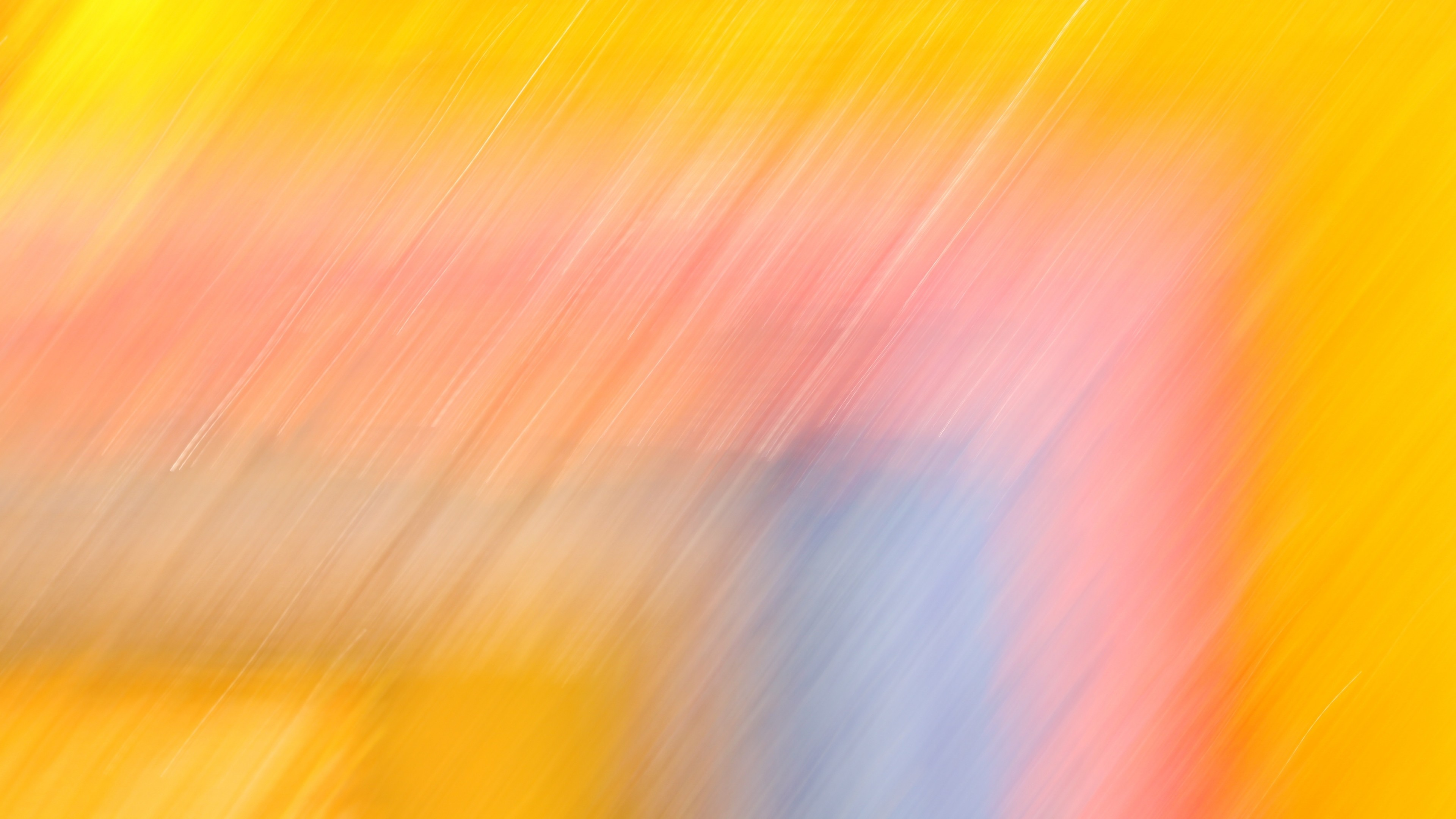 Yellow Bright Abstract Lines 4k