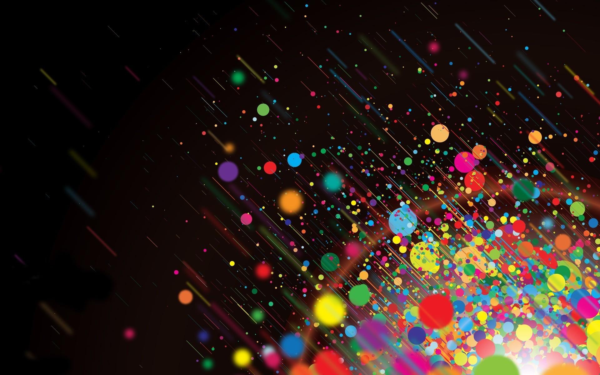 abstract dark multicolor bright / Wallpaper