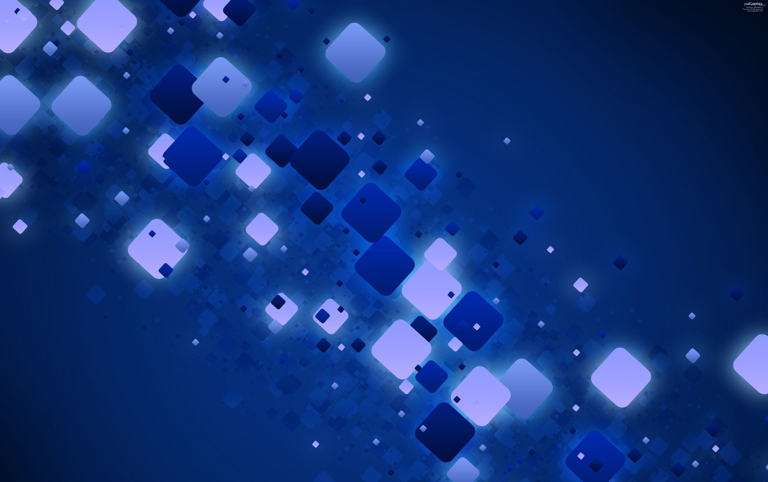 Blue Abstract Light 3D Background