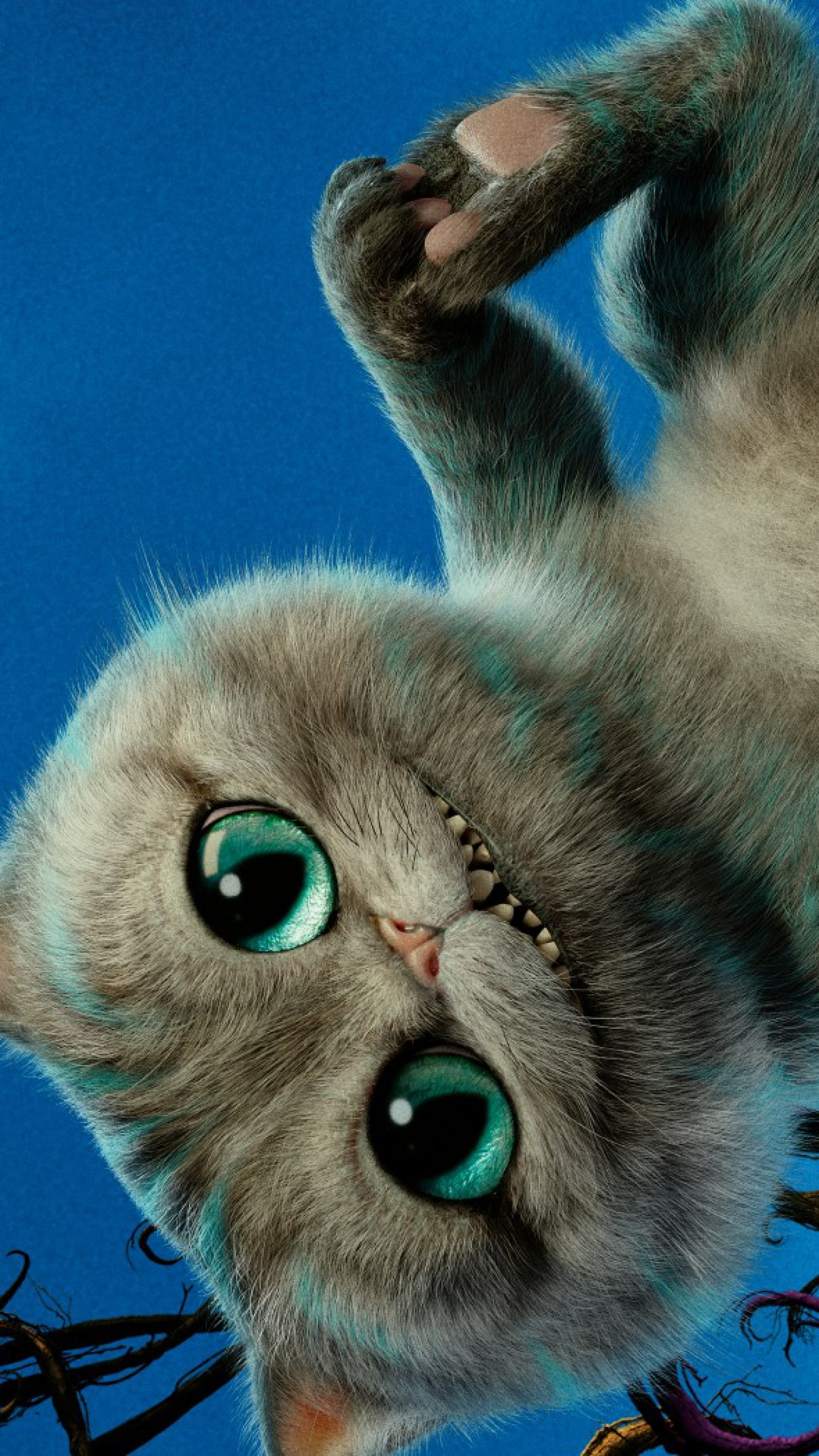 Preview wallpaper alice through the looking glass, 2016, cheshire cat  1440×2560