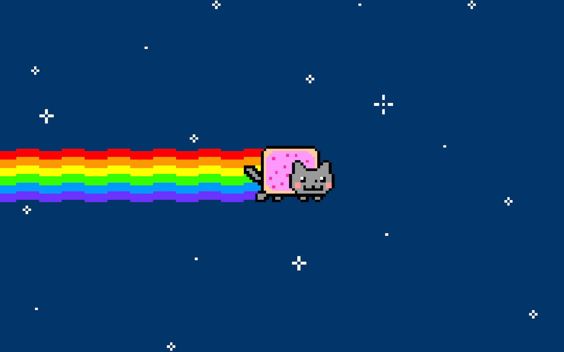 Outer space cats rainbows nyan cat wallpaper …