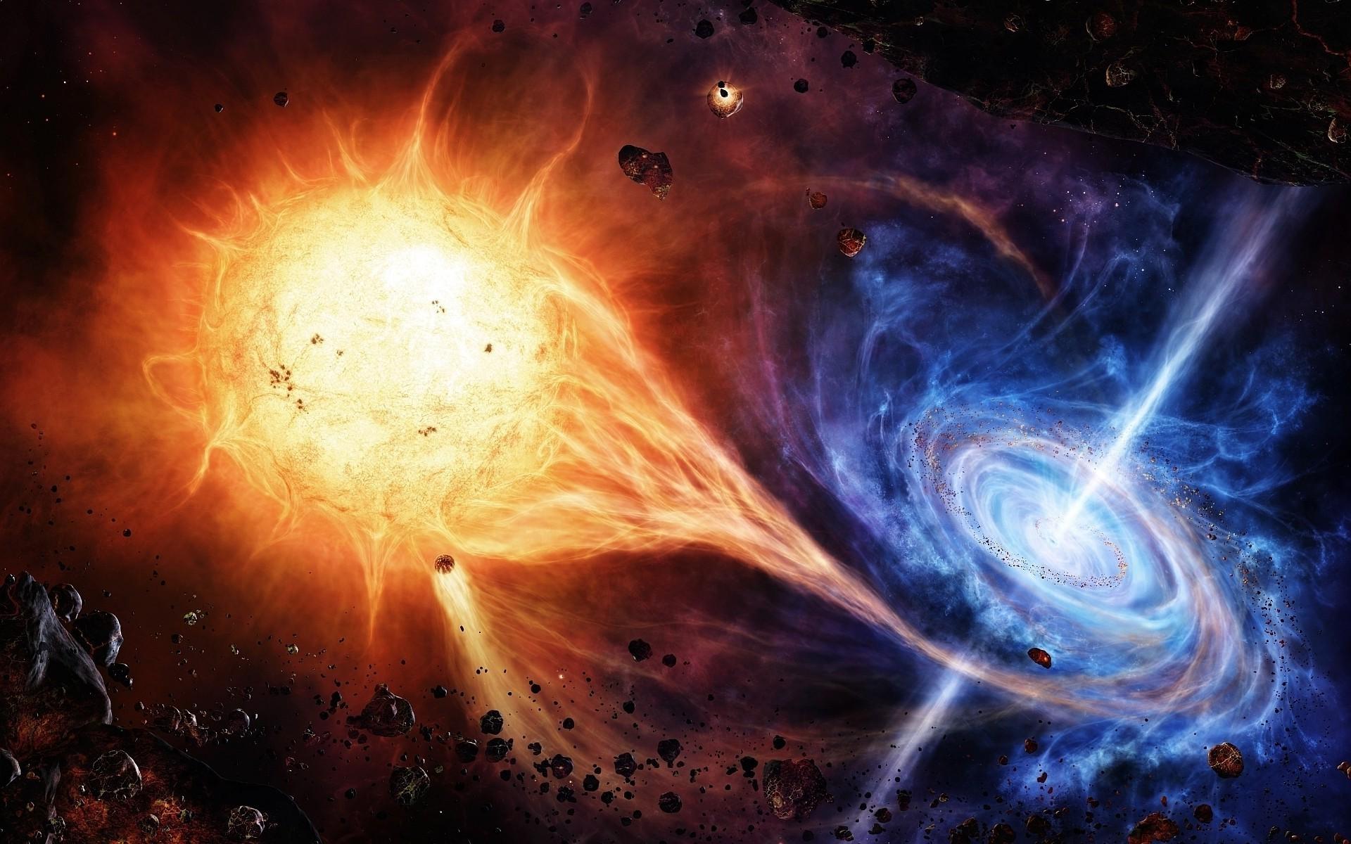 space, Space Art, Quasars, Asteroid, Sun
