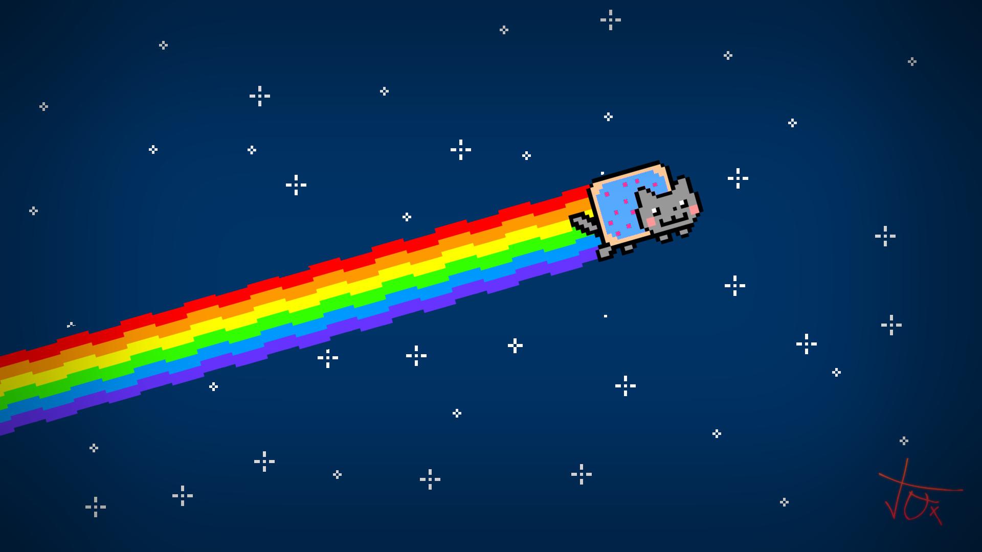 <b>Nyan Cat</b> Ice Fishing With Jaws Wallchan 1440×1050  